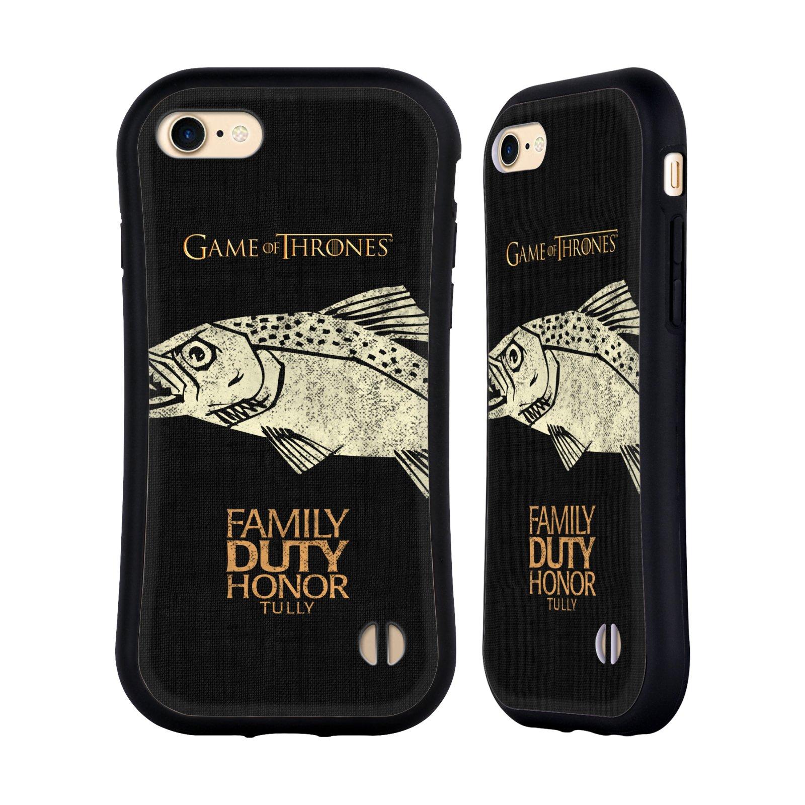 HEAD CASE odolný obal na mobil Apple Iphone 8 oficiální kryt Hra o trůny Rod Tullyů z Řekotočí