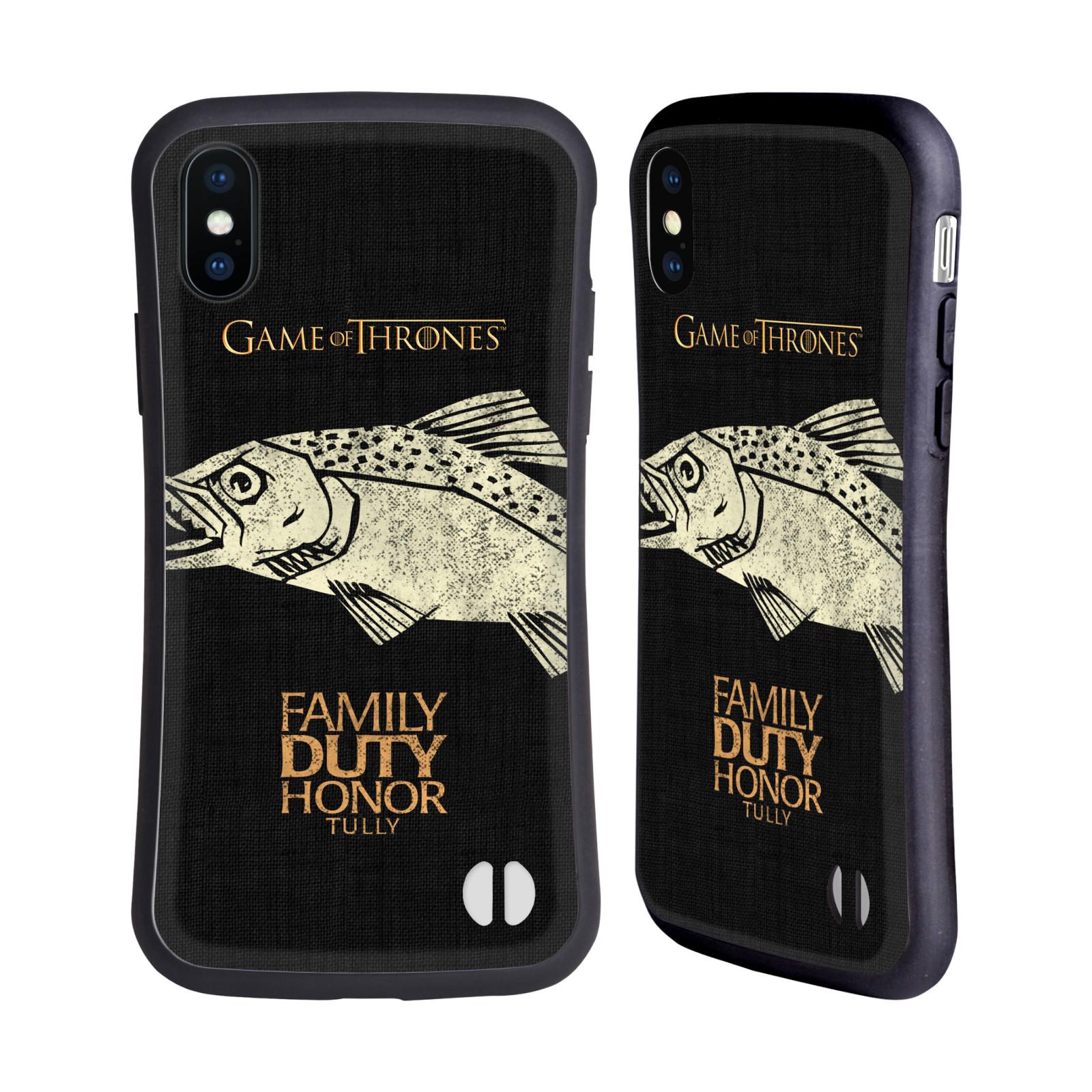 HEAD CASE odolný obal na mobil Apple Iphone X a XS oficiální kryt Hra o trůny Rod Tullyů z Řekotočí