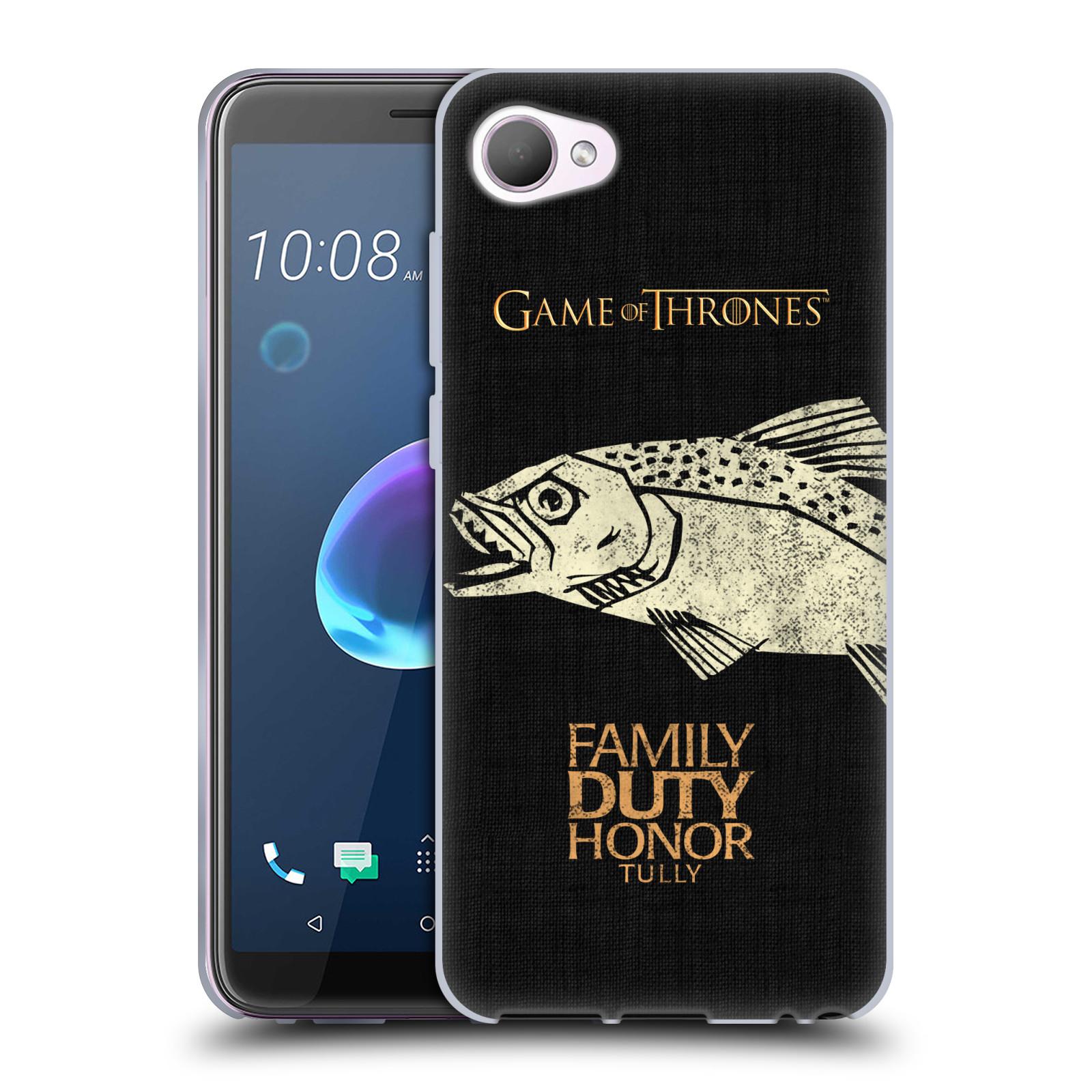 HEAD CASE silikonový obal na mobil HTC Desire 12 / Desire 12 DUAL SIM oficiální kryt Hra o trůny Rod Tullyů z Řekotočí