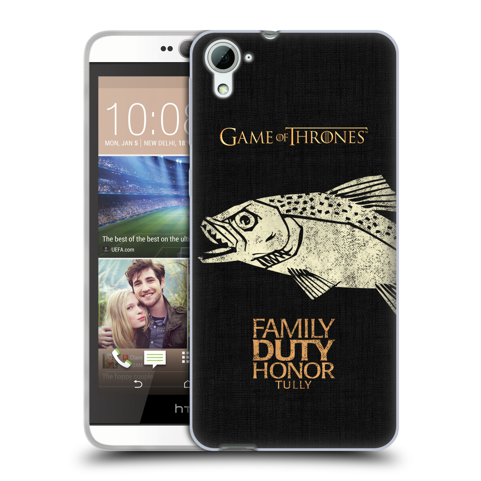 HEAD CASE silikonový obal na mobil HTC Desire 826 oficiální kryt Hra o trůny Rod Tullyů z Řekotočí