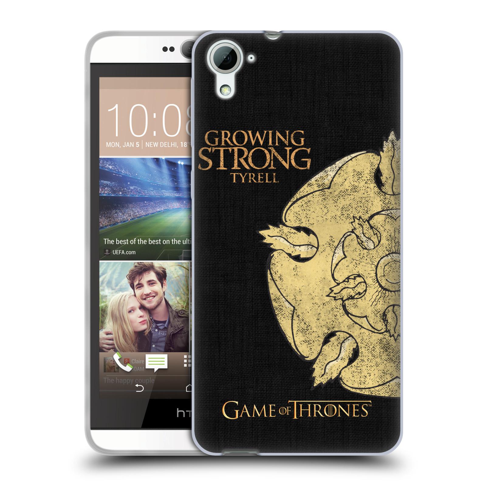 HEAD CASE silikonový obal na mobil HTC Desire 826 oficiální kryt Hra o trůny Rod Tyrellové z Vysoké zahrady