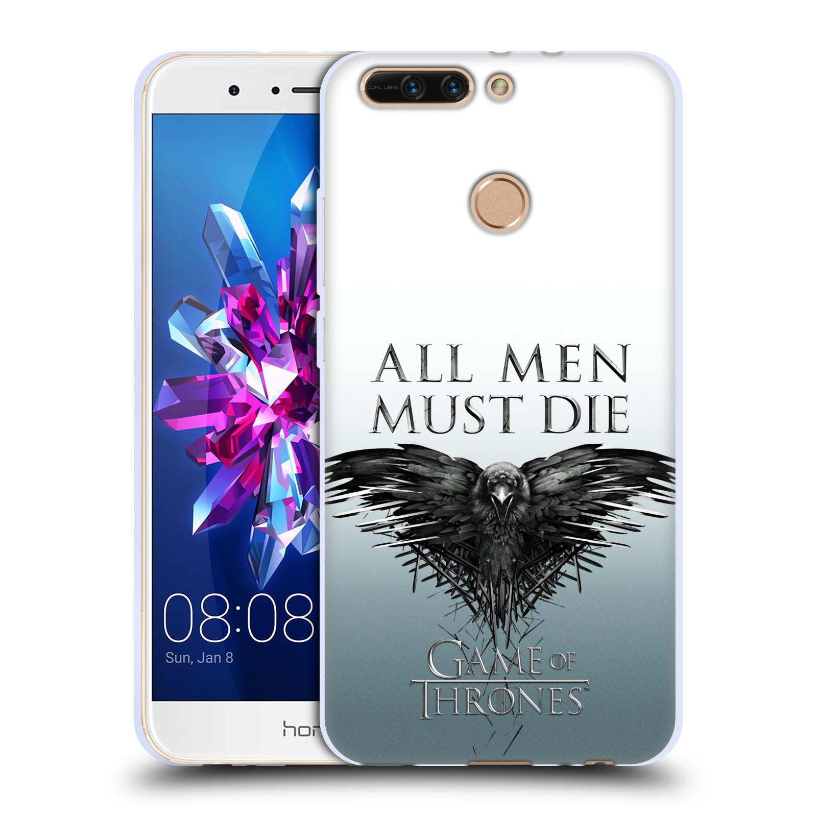 HEAD CASE silikonový obal na mobil Huawei HONOR 8 PRO / Honor 8 PRO DUAL SIM oficiální kryt Hra o trůny havran