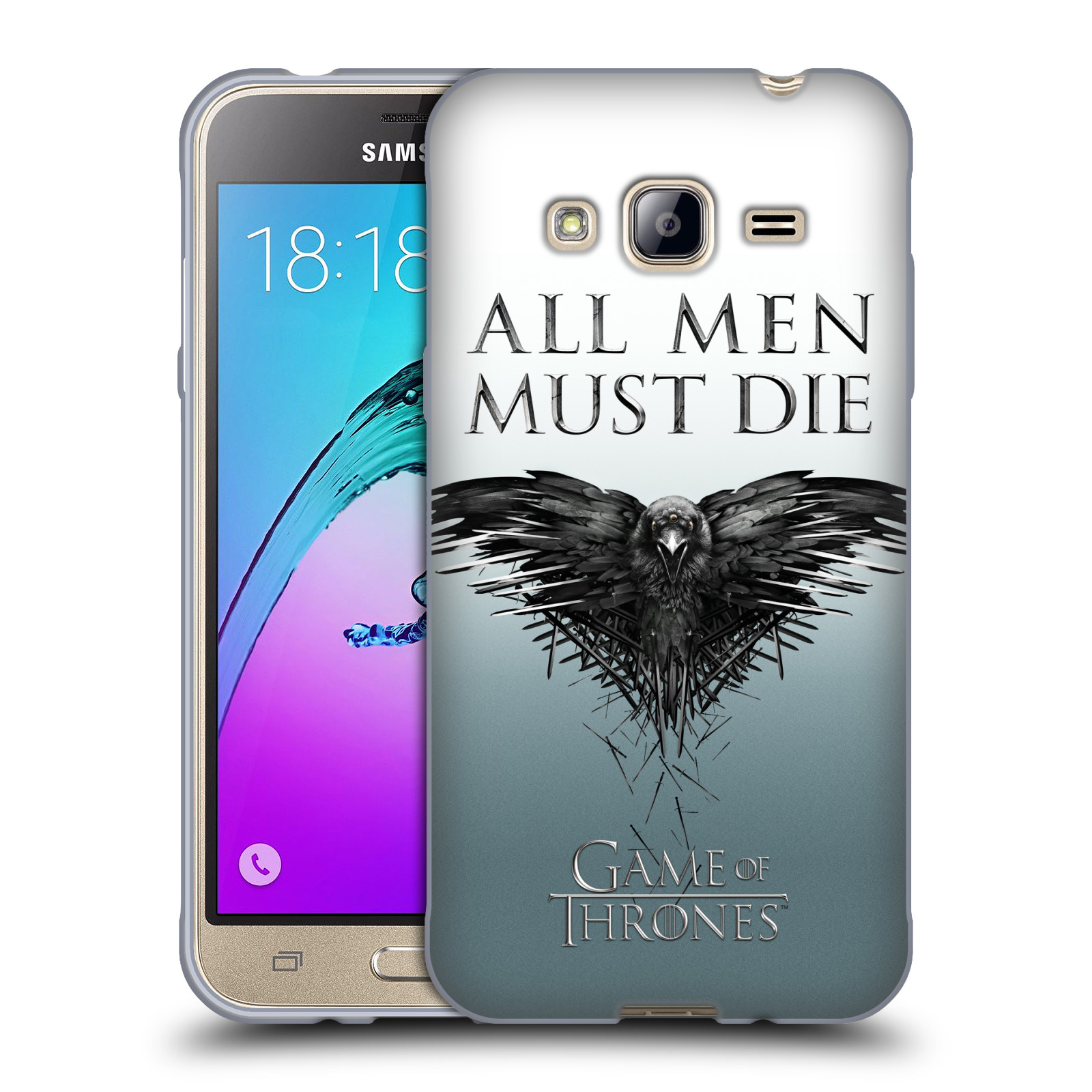 HEAD CASE silikonový obal na mobil Samsung Galaxy J3, J3 2016 oficiální kryt Hra o trůny havran