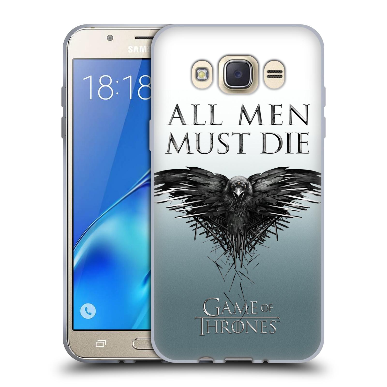 HEAD CASE silikonový obal na mobil Samsung Galaxy J7 2016 oficiální kryt Hra o trůny havran