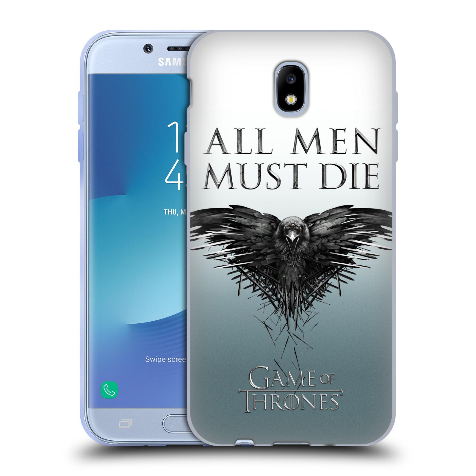 HEAD CASE silikonový obal na mobil Samsung Galaxy J7 2017 oficiální kryt Hra o trůny havran