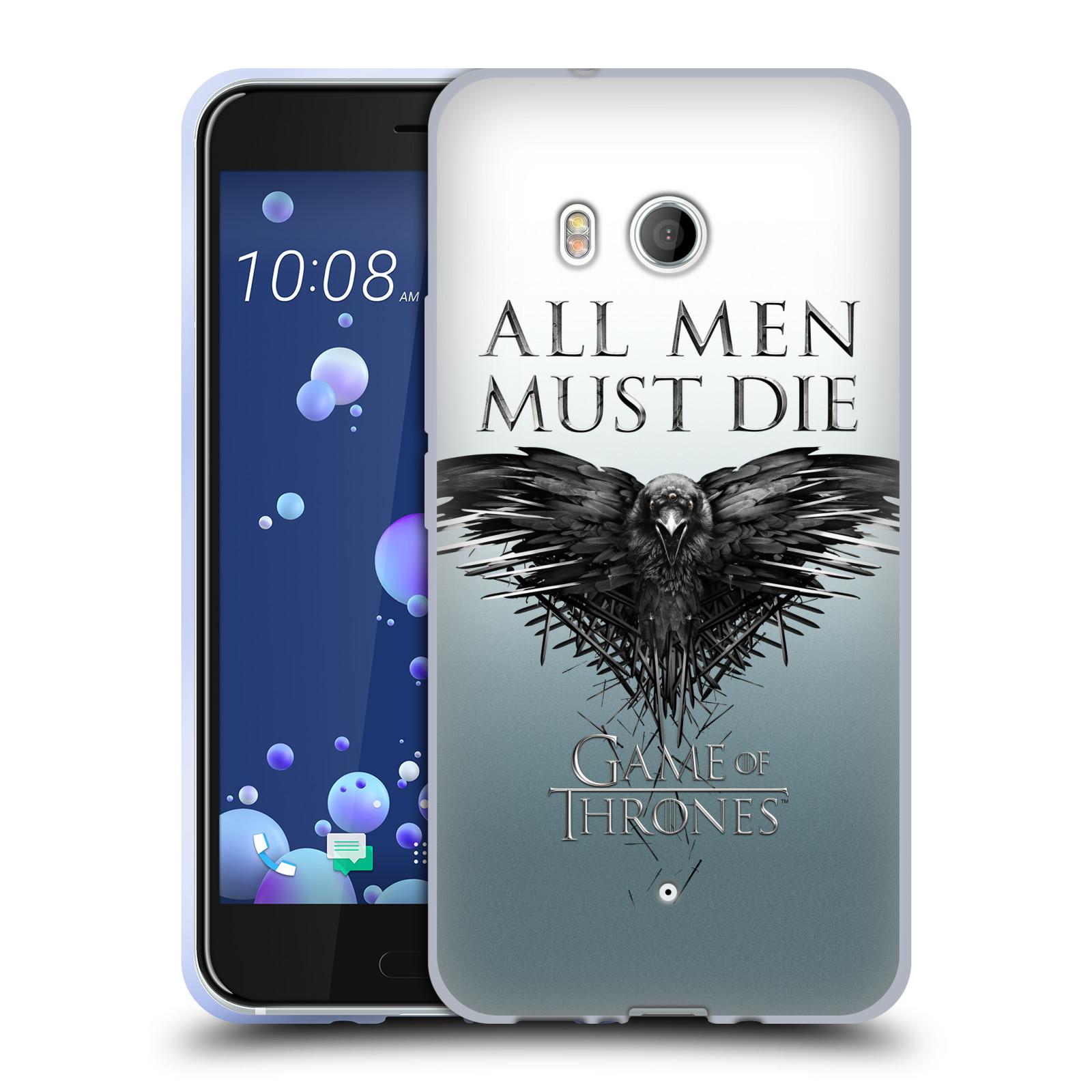 HEAD CASE silikonový obal na mobil HTC U11 oficiální kryt Hra o trůny havran