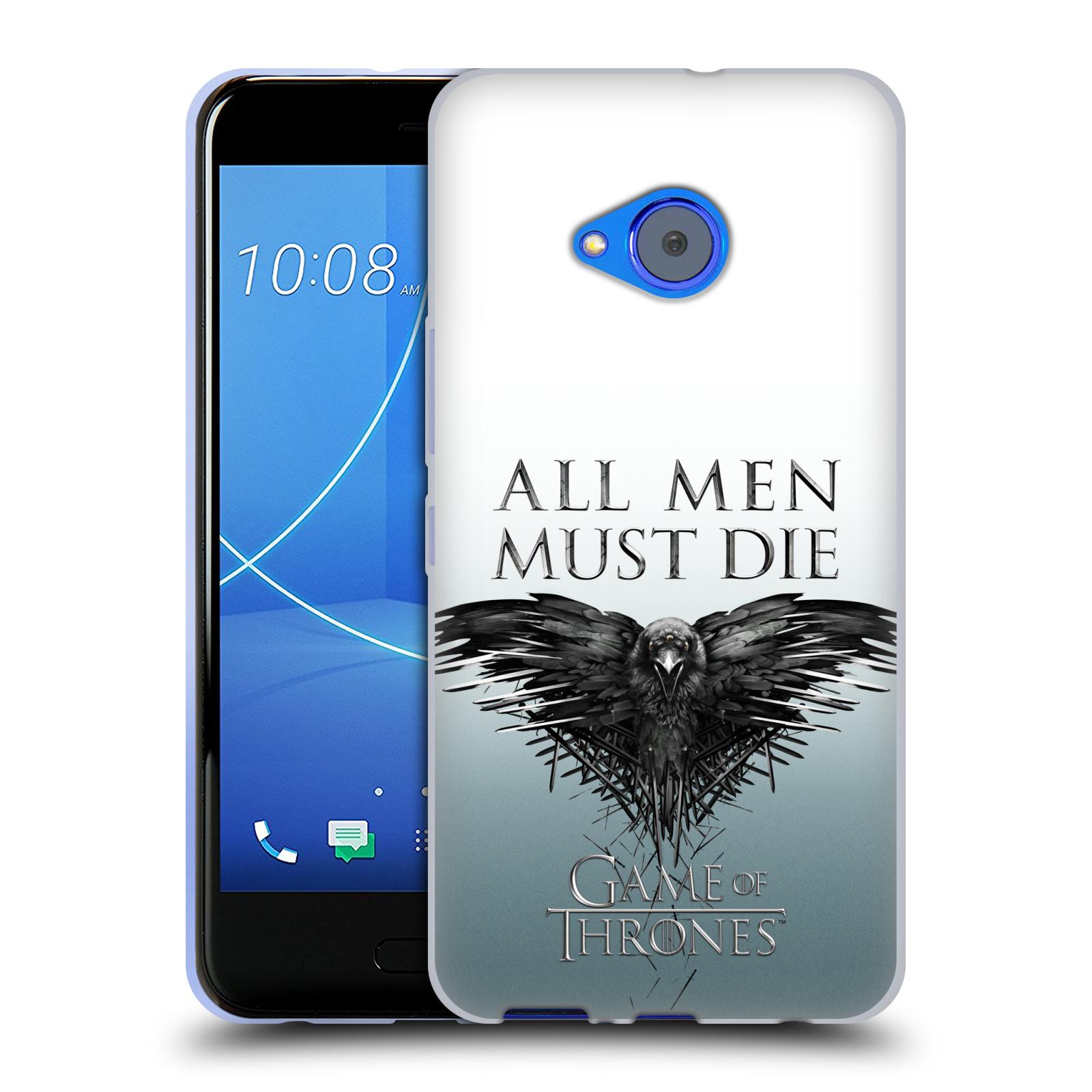 HEAD CASE silikonový obal na mobil HTC U11 Life oficiální kryt Hra o trůny havran