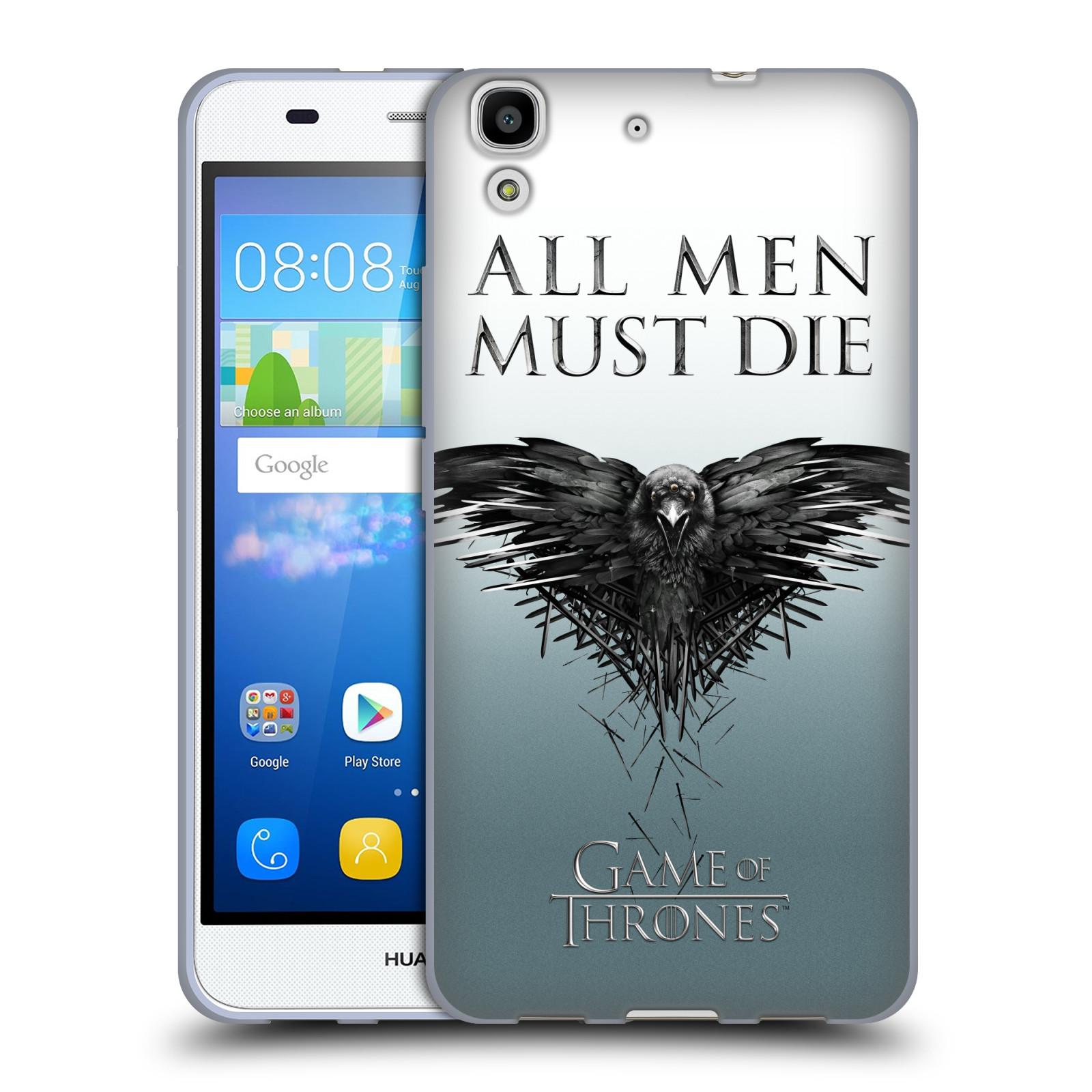 HEAD CASE silikonový obal na mobil Huawei Y6 oficiální kryt Hra o trůny havran
