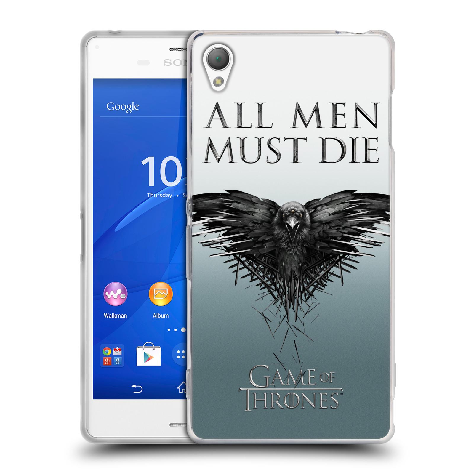 HEAD CASE silikonový obal na mobil Sony Xperia Z3 oficiální kryt Hra o trůny havran