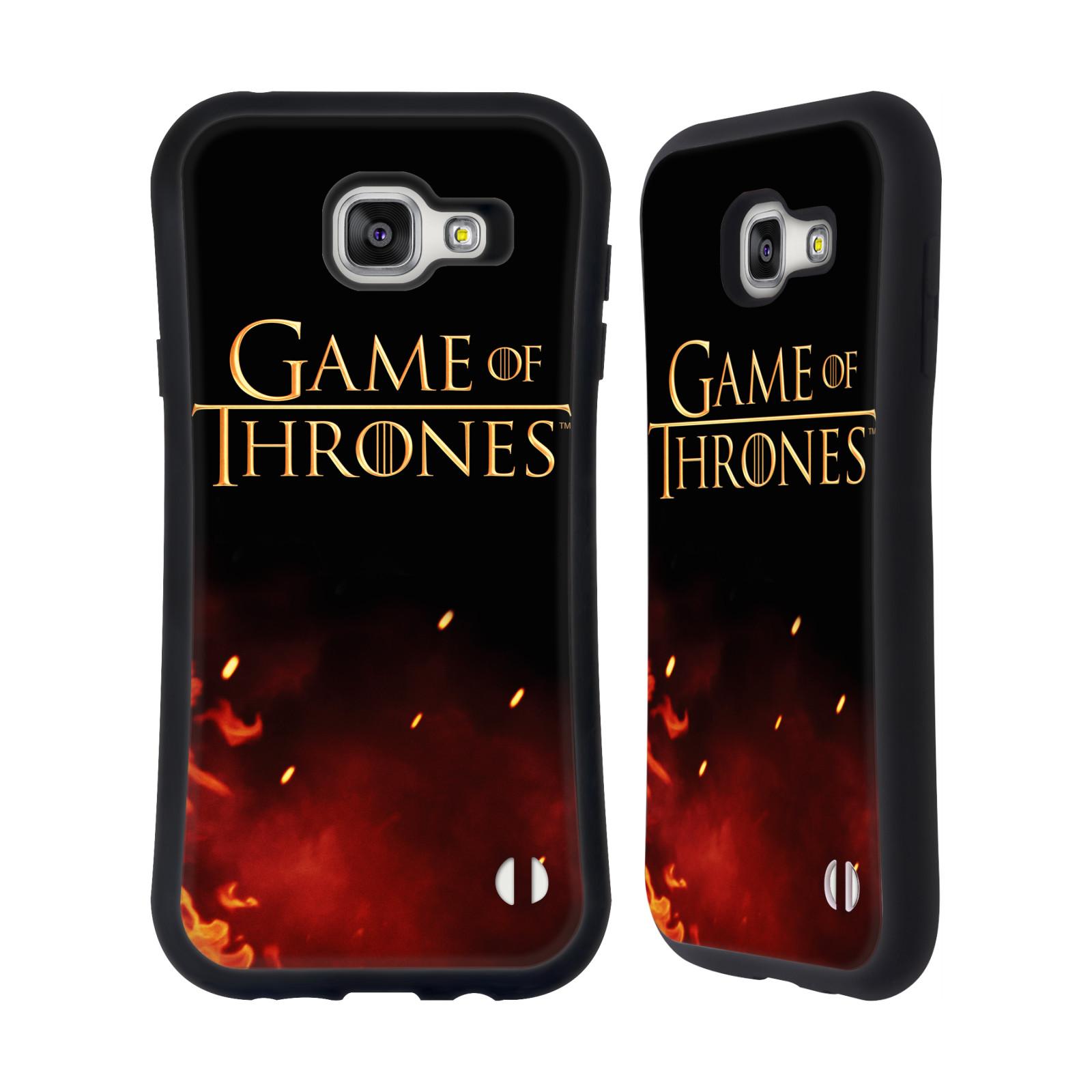HEAD CASE silikon/plast odolný obal na mobil Samsung Galaxy A7 2016 (A710F) Hra o trůny Logo oheň