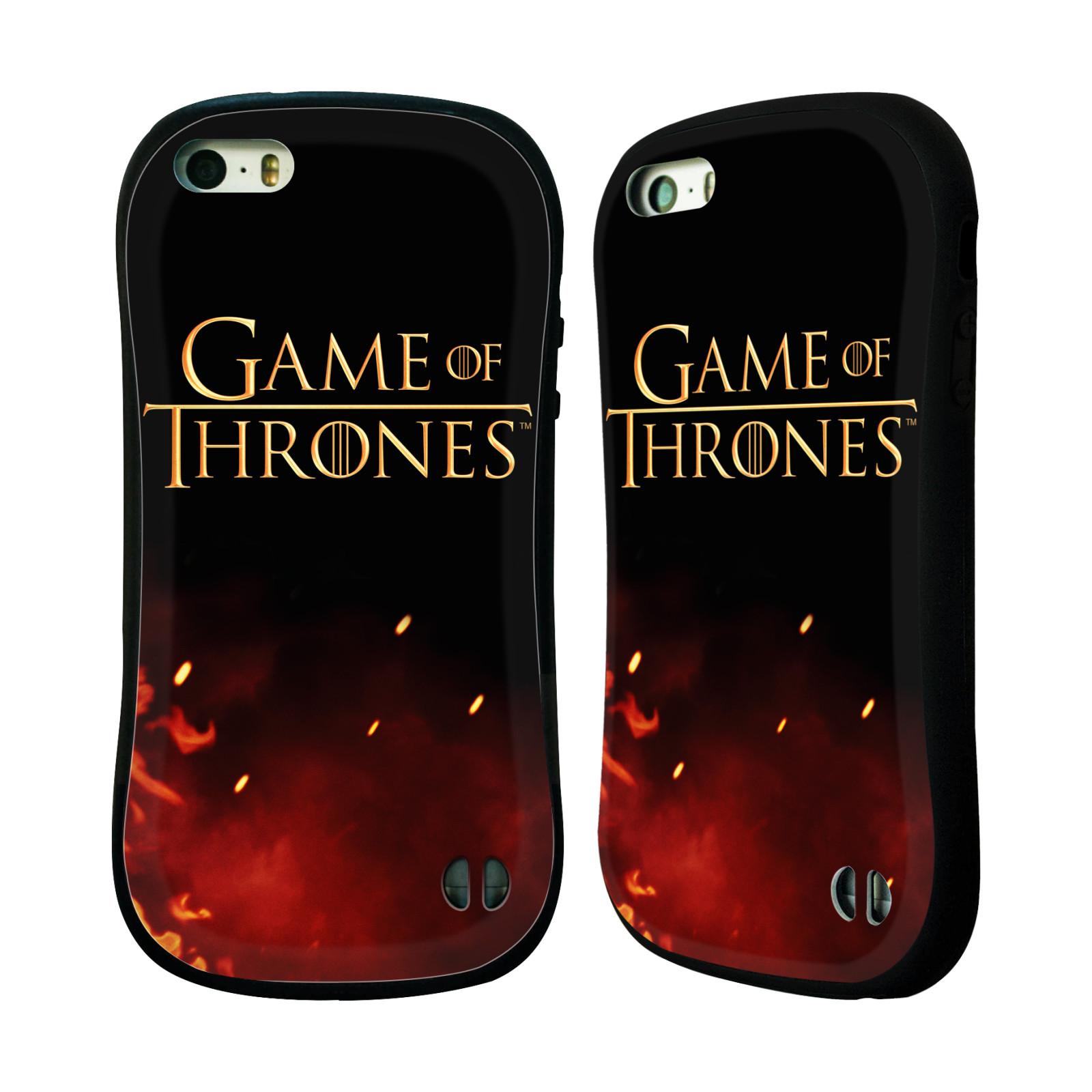 HEAD CASE silikon/plast odolný obal na mobil Apple Iphone 5 / 5S Hra o trůny Logo oheň