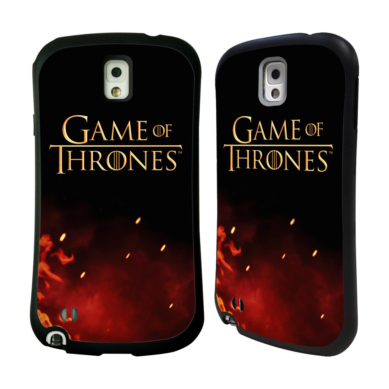 HEAD CASE silikon/plast odolný obal na mobil Samsung Galaxy NOTE 3 (N9005) Hra o trůny Logo oheň