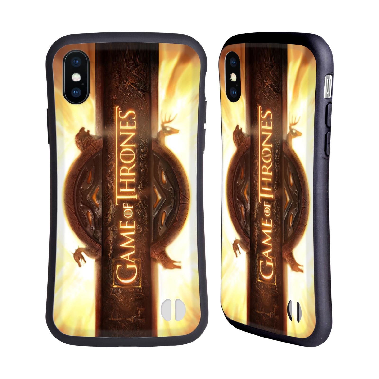 HEAD CASE odolný obal na mobil Apple Iphone X a XS oficiální kryt Hra o trůny úvodní motiv oheň