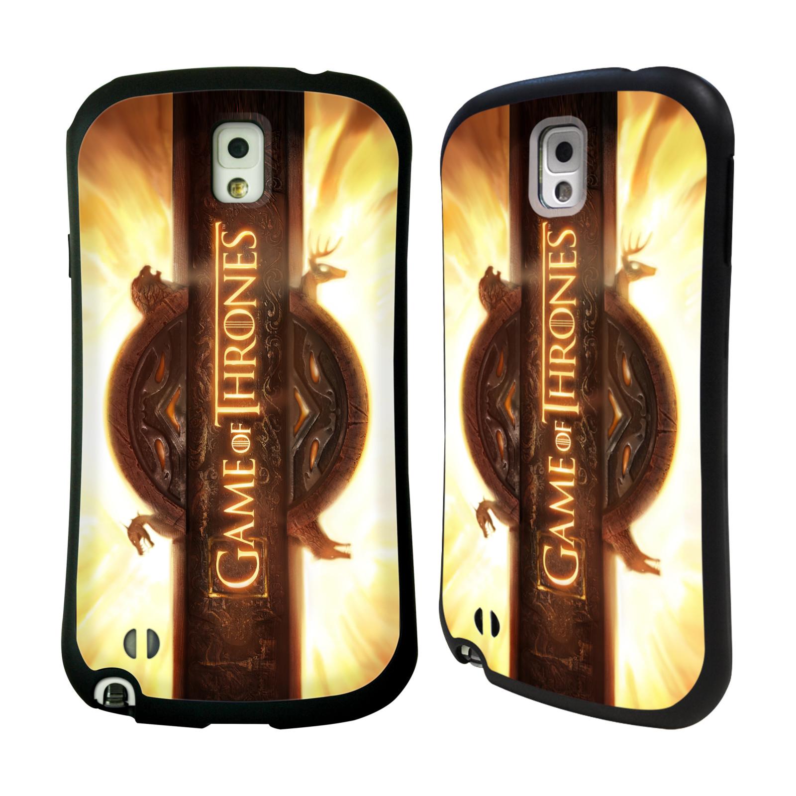 HEAD CASE silikon/plast odolný obal na mobil Samsung Galaxy NOTE 3 (N9005) Hra o trůny Nadpis úvodní sekvence