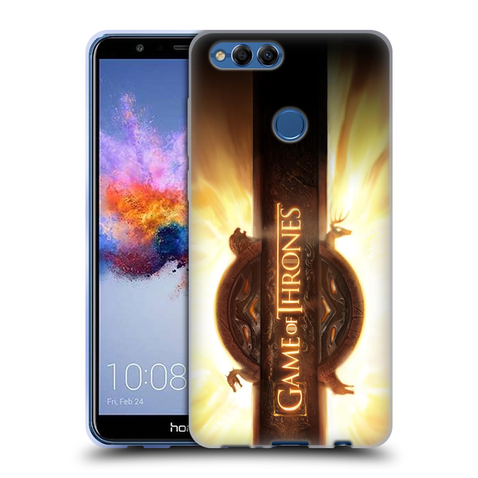 HEAD CASE silikonový obal na mobil Huawei HONOR 7X oficiální kryt Hra o trůny úvodní motiv oheň