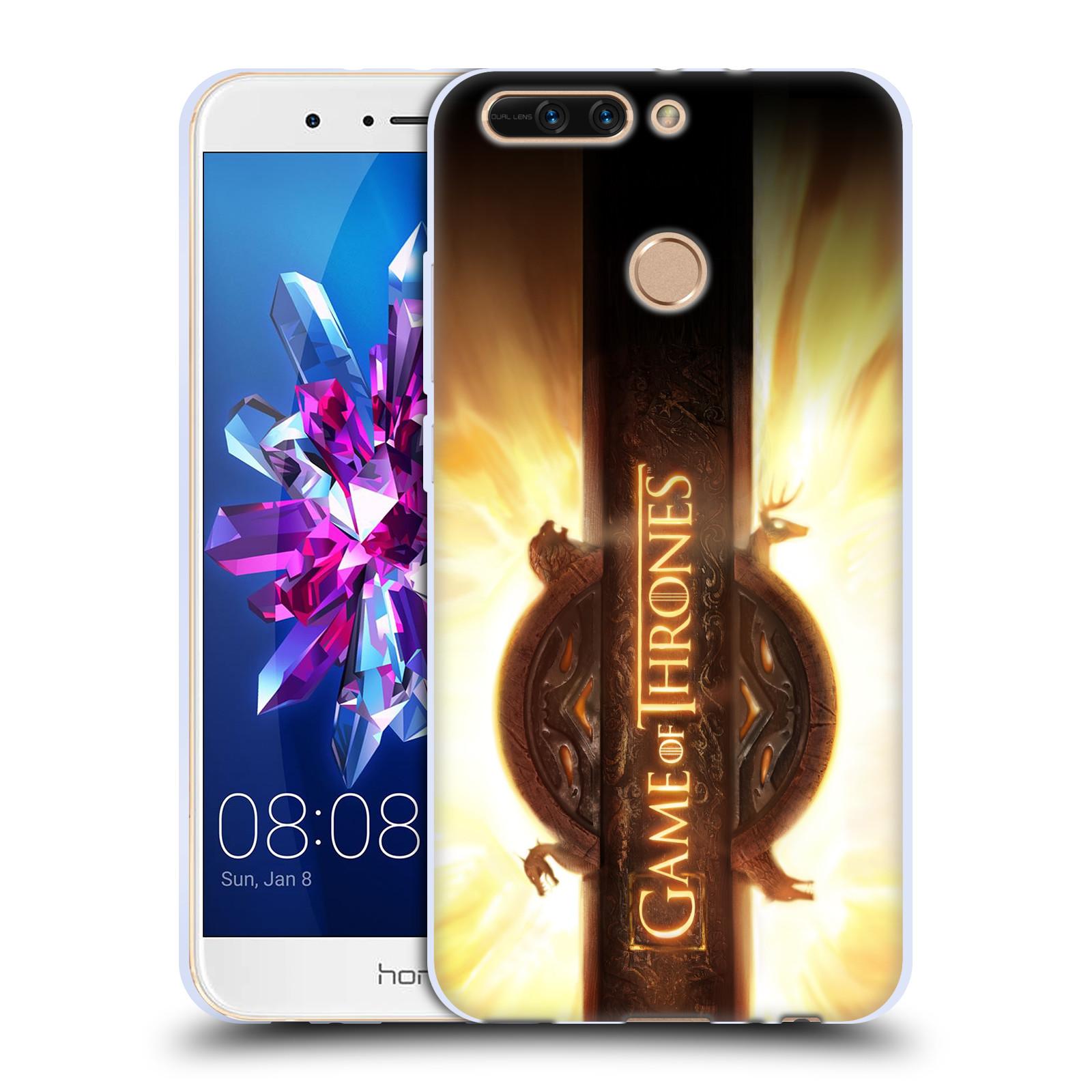 HEAD CASE silikonový obal na mobil Huawei HONOR 8 PRO / Honor 8 PRO DUAL SIM oficiální kryt Hra o trůny úvodní motiv oheň
