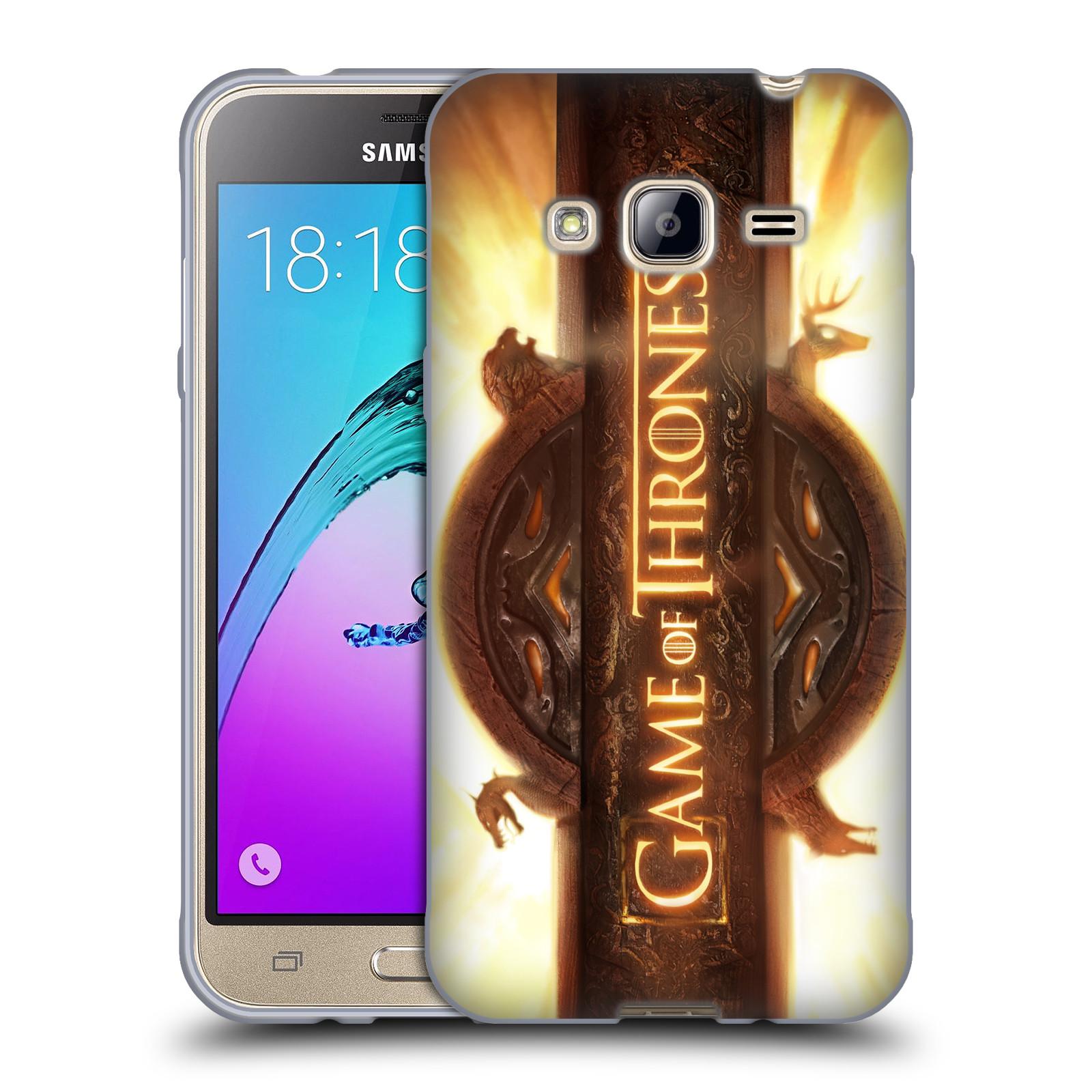 HEAD CASE silikonový obal na mobil Samsung Galaxy J3, J3 2016 oficiální kryt Hra o trůny úvodní motiv oheň
