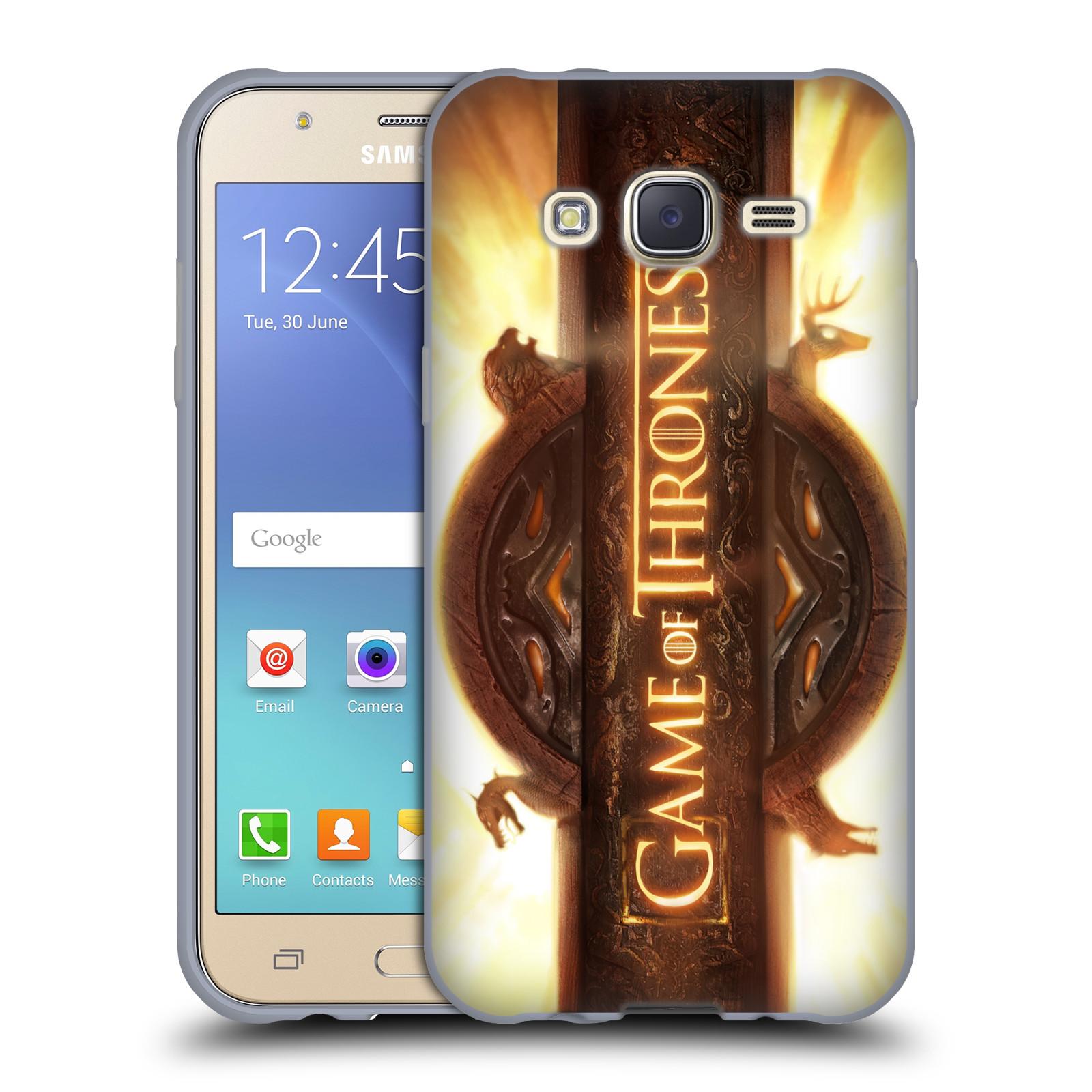 HEAD CASE silikonový obal na mobil Samsung Galaxy J5 2015 (J500) oficiální kryt Hra o trůny úvodní motiv oheň