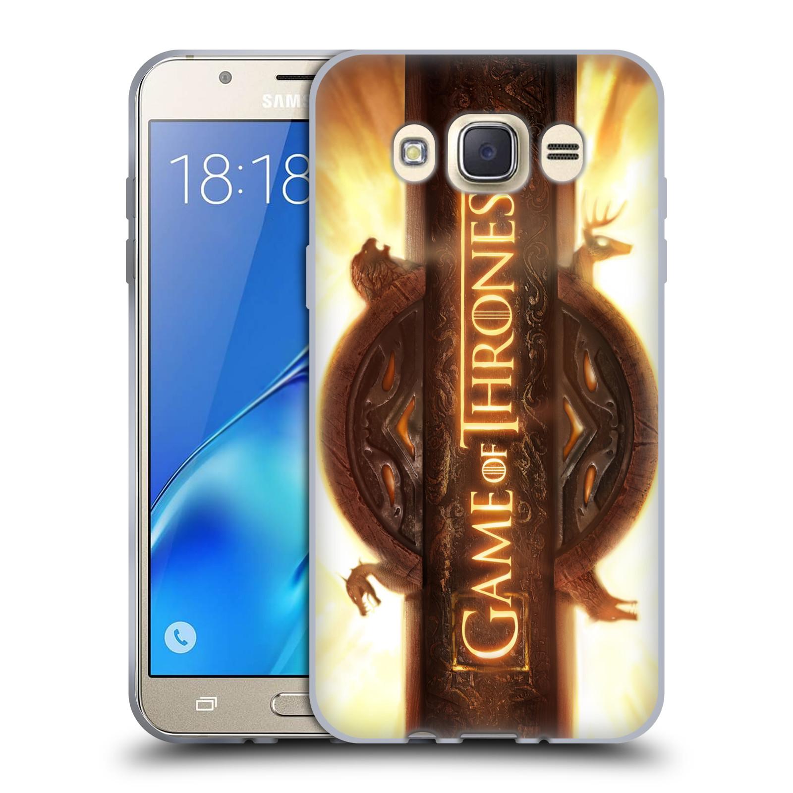 HEAD CASE silikonový obal na mobil Samsung Galaxy J7 2016 oficiální kryt Hra o trůny úvodní motiv oheň