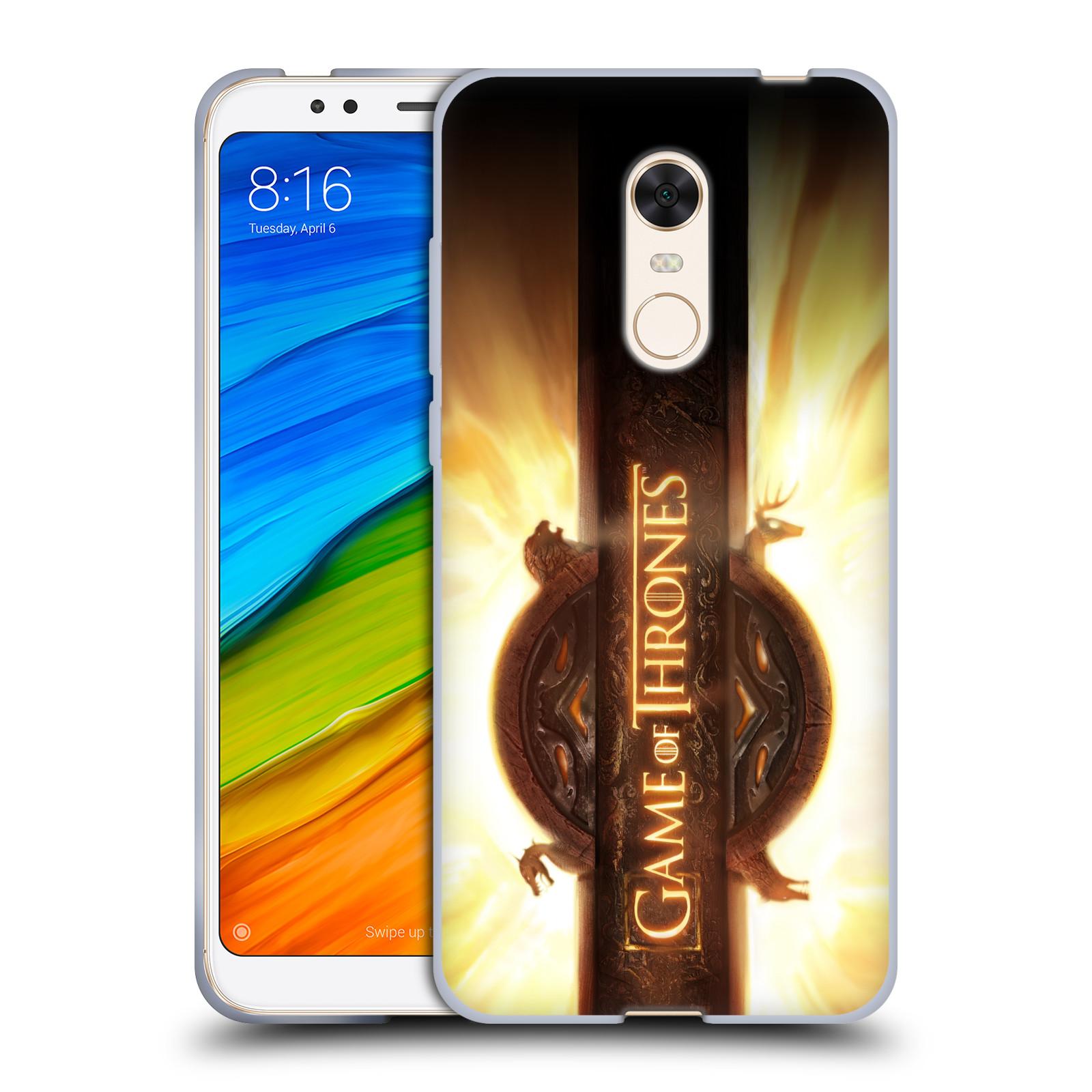 6d22d688b8b HEAD CASE silikonový obal na mobil Xiaomi Redmi 5 PLUS (REDMI 5+) oficiální  kryt Hra o trůny úvodní motiv oheň