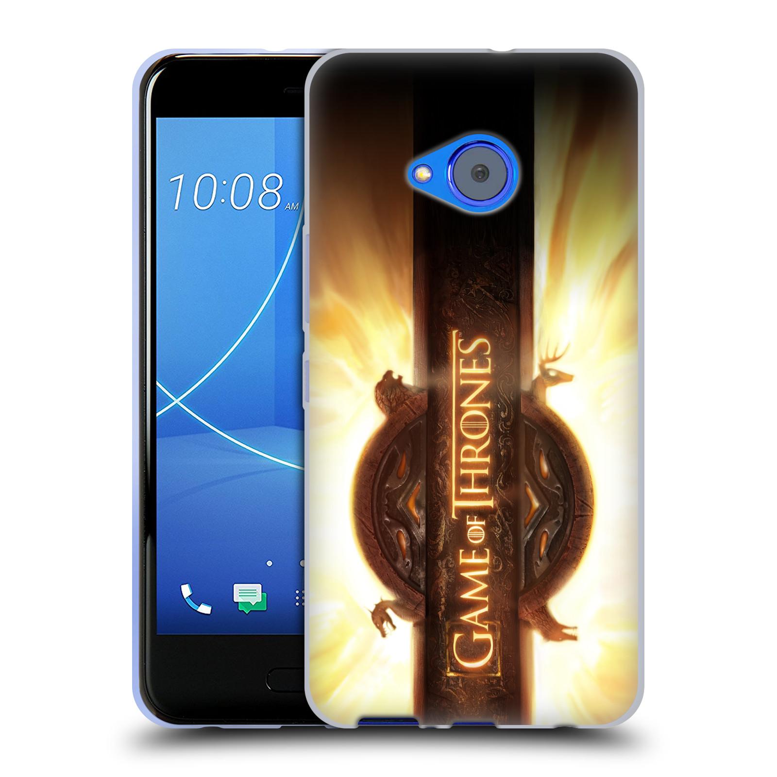 HEAD CASE silikonový obal na mobil HTC U11 Life oficiální kryt Hra o trůny úvodní motiv oheň