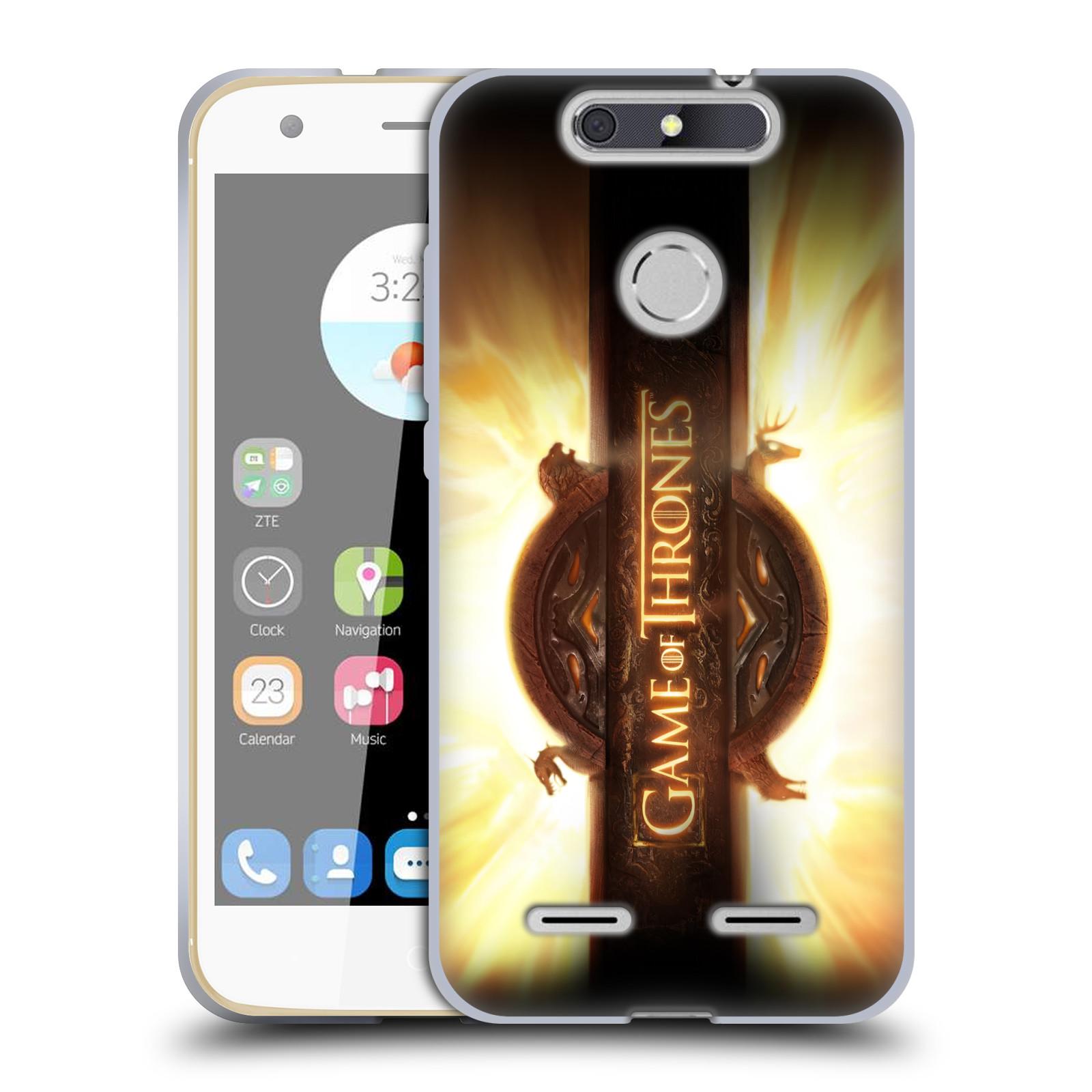 HEAD CASE silikonový obal na mobil ZTE Blade V8 LITE oficiální kryt Hra o trůny úvodní motiv oheň