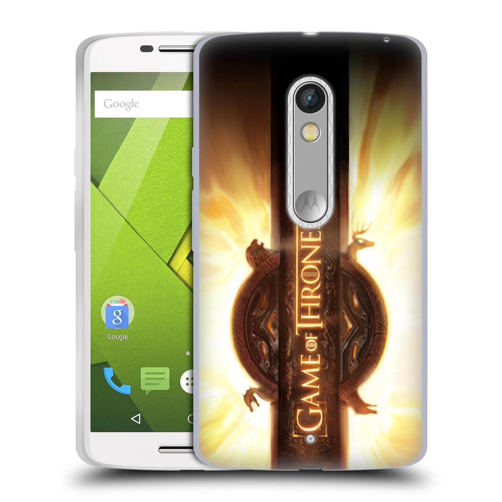 HEAD CASE silikonový obal na mobil Lenovo Moto X PLAY oficiální kryt Hra o trůny úvodní motiv oheň