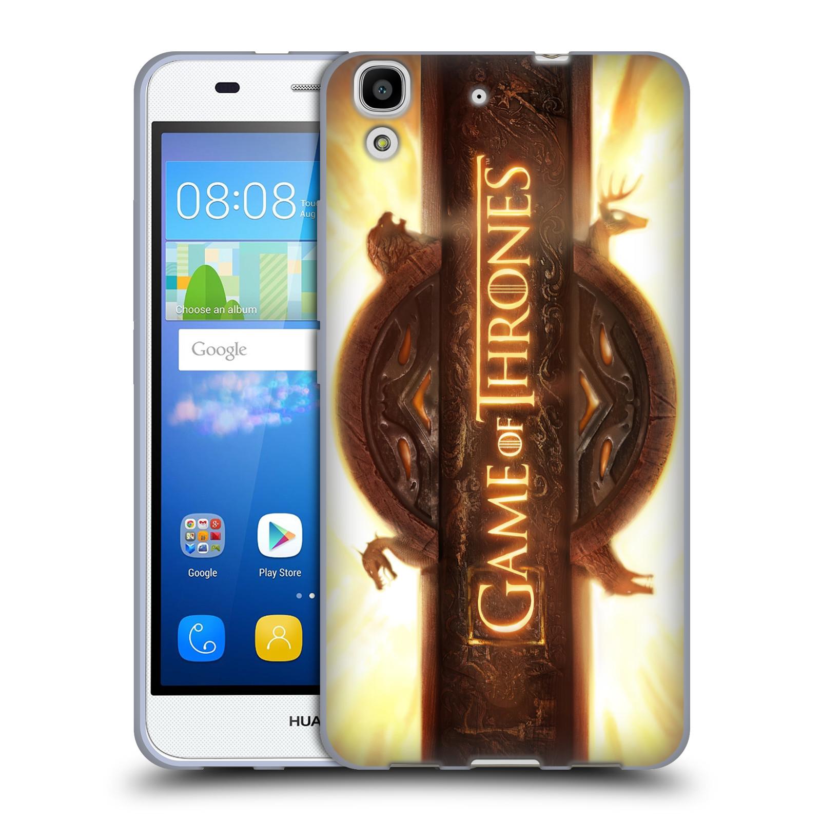 HEAD CASE silikonový obal na mobil Huawei Y6 oficiální kryt Hra o trůny úvodní motiv oheň