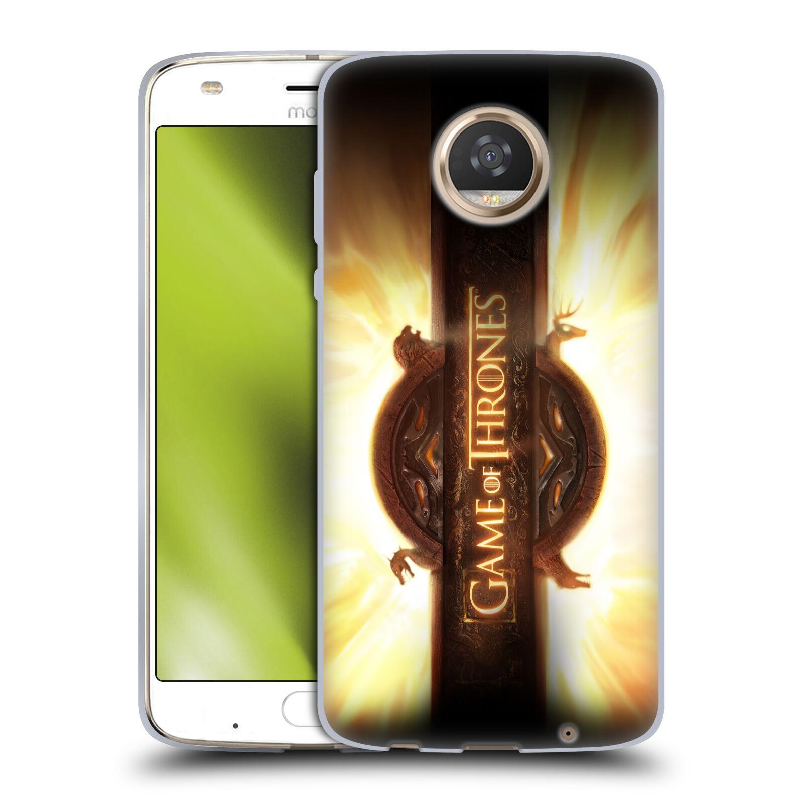 HEAD CASE silikonový obal na mobil Motorola Moto Z2 PLAY oficiální kryt Hra o trůny úvodní motiv oheň