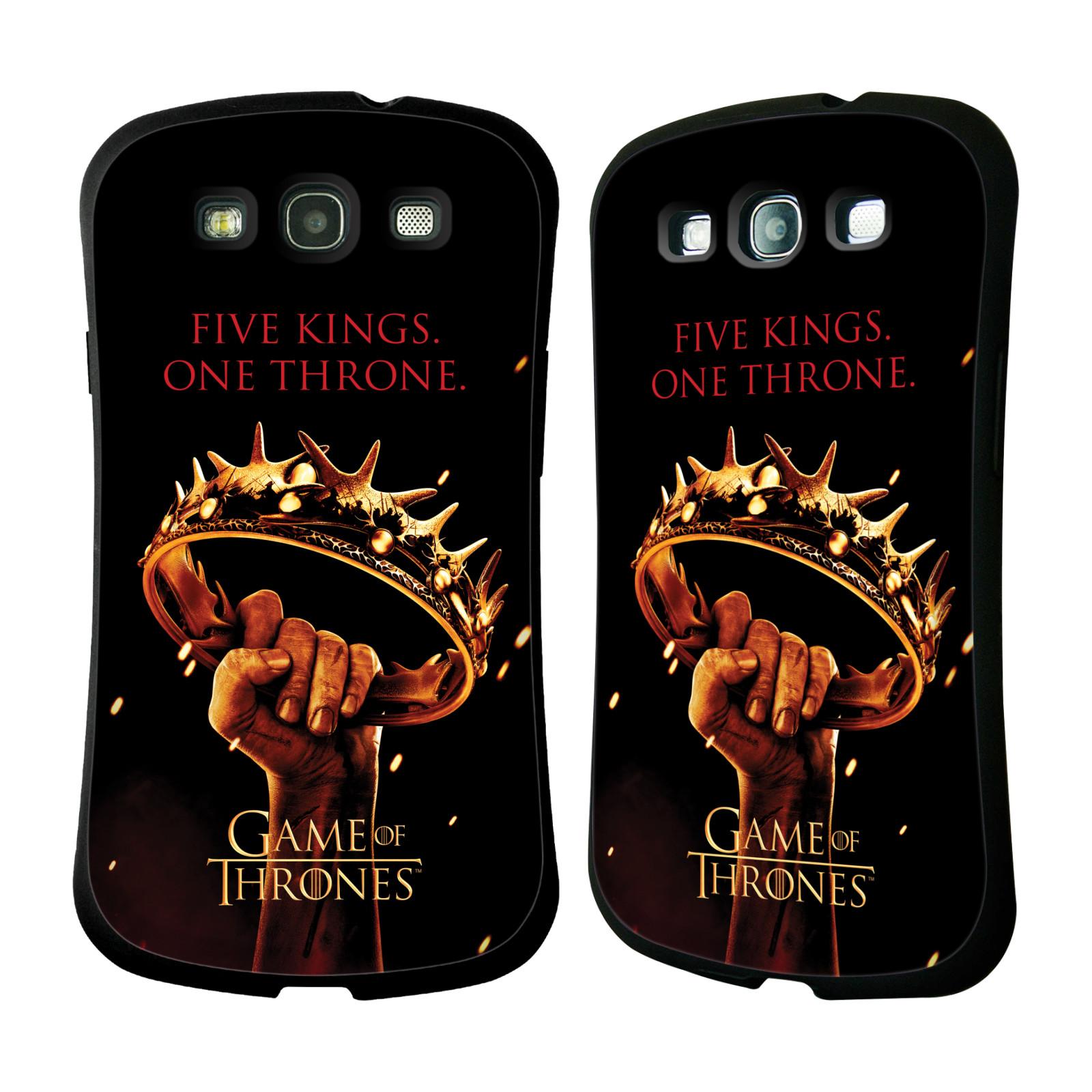 HEAD CASE silikon/plast odolný obal na mobil Samsung Galaxy S3 i9300 / S3 NEO Hra o trůny koruna v dlani