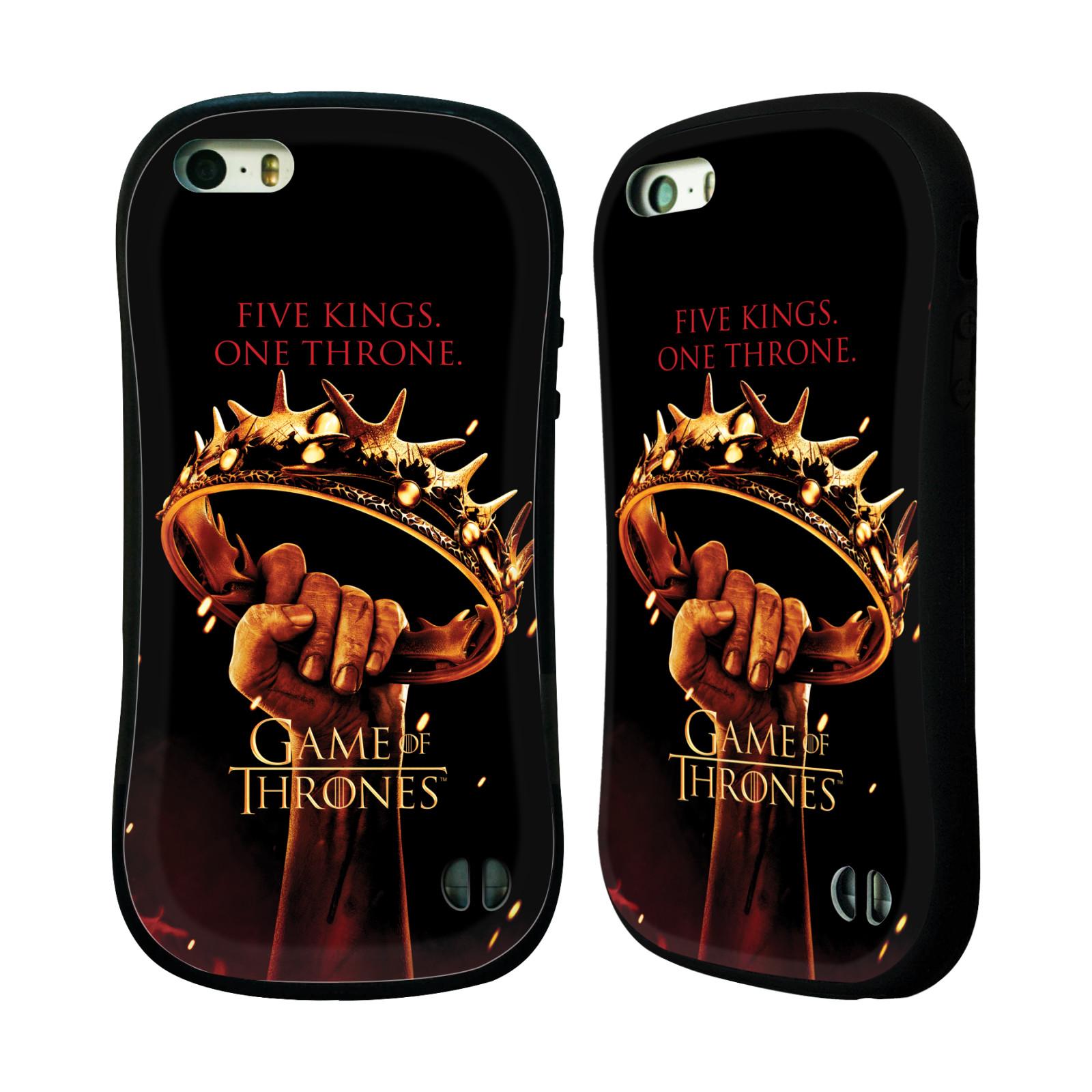 HEAD CASE silikon/plast odolný obal na mobil Apple Iphone 5 / 5S Hra o trůny koruna v dlani