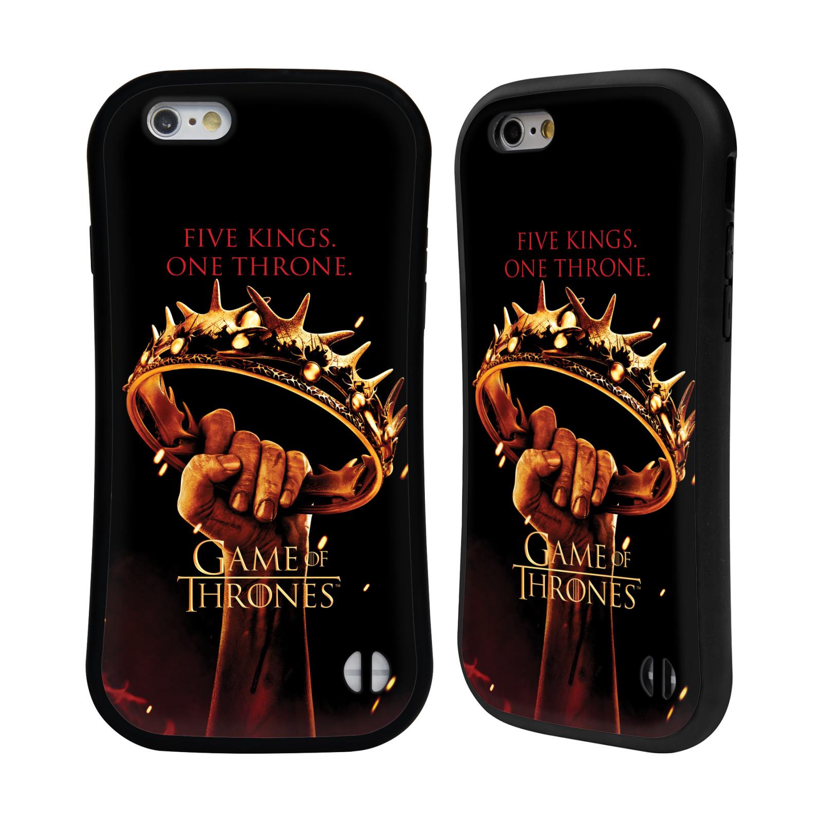 HEAD CASE silikon/plast odolný obal na mobil Apple Iphone 6/6S Hra o trůny koruna v dlani