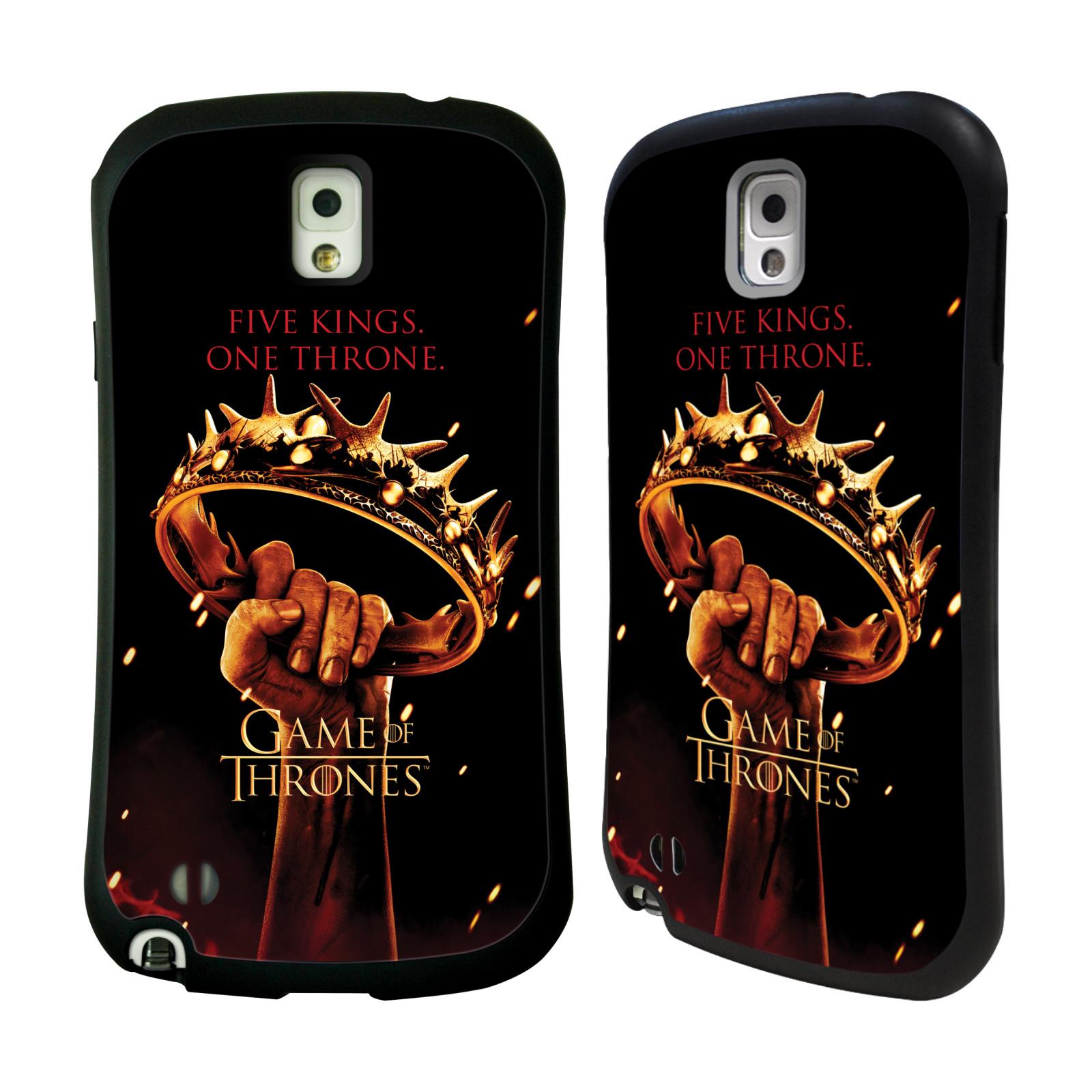 HEAD CASE silikon/plast odolný obal na mobil Samsung Galaxy NOTE 3 (N9005) Hra o trůny koruna v dlani