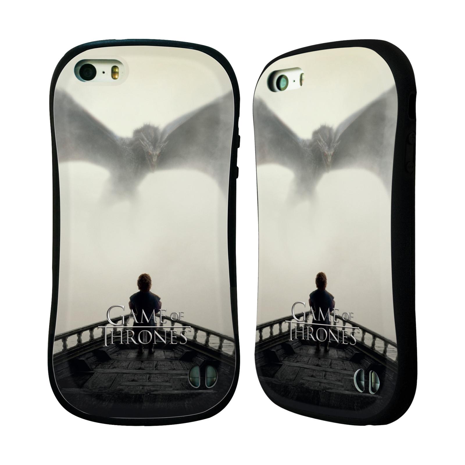 HEAD CASE silikon/plast odolný obal na mobil Apple Iphone 5 / 5S Hra o trůny loď a drak (pomsta)