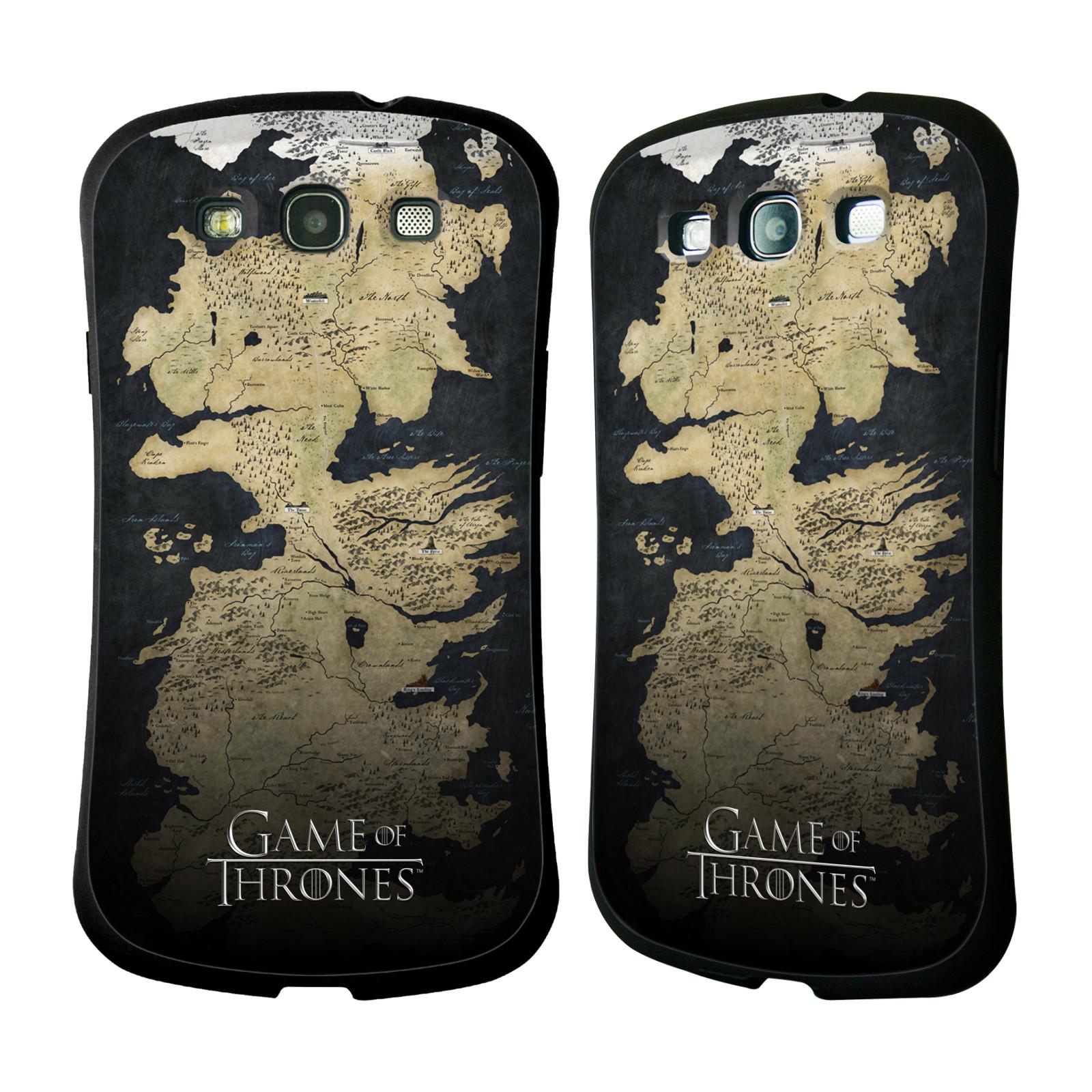 HEAD CASE silikon/plast odolný obal na mobil Samsung Galaxy S3 i9300 / S3 NEO Hra o trůny mapa Západozemí