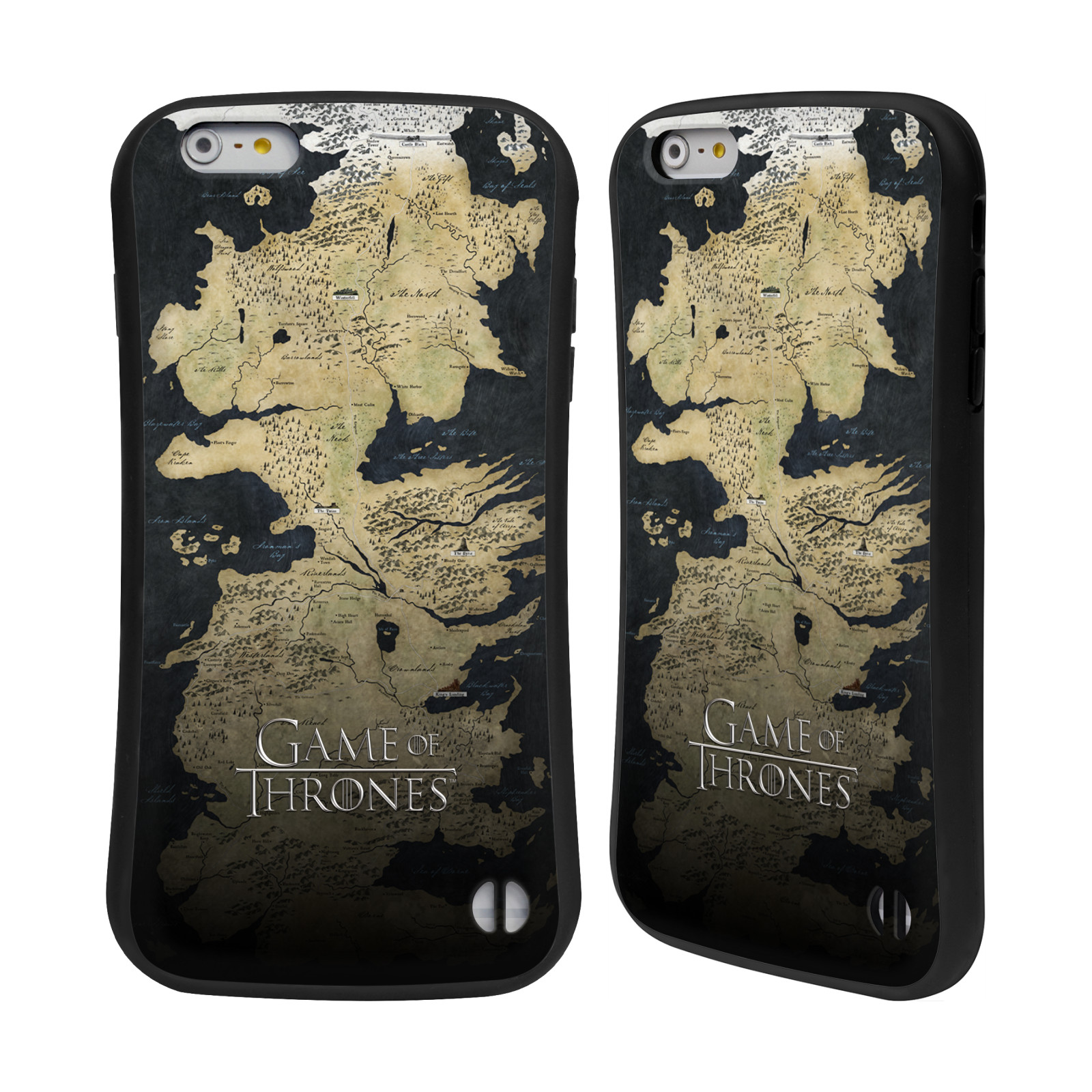 HEAD CASE silikon/plast odolný obal na mobil Apple Iphone 6 PLUS / 6S PLUS Hra o trůny mapa Západozemí
