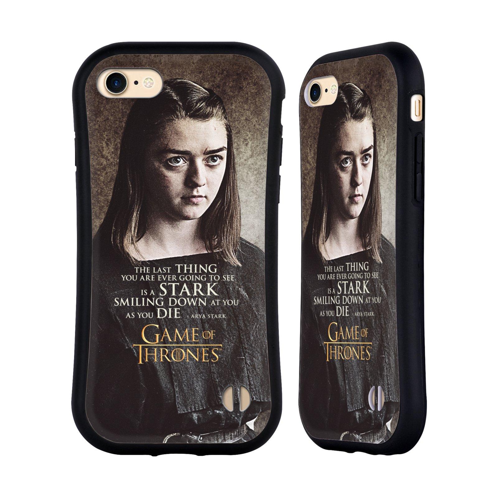 HEAD CASE odolný obal na mobil Apple Iphone 8 oficiální kryt Hra o trůny Arya Stark