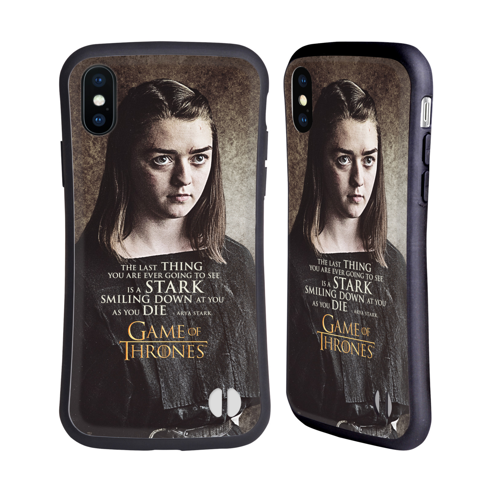 HEAD CASE odolný obal na mobil Apple Iphone X a XS oficiální kryt Hra o trůny Arya Stark