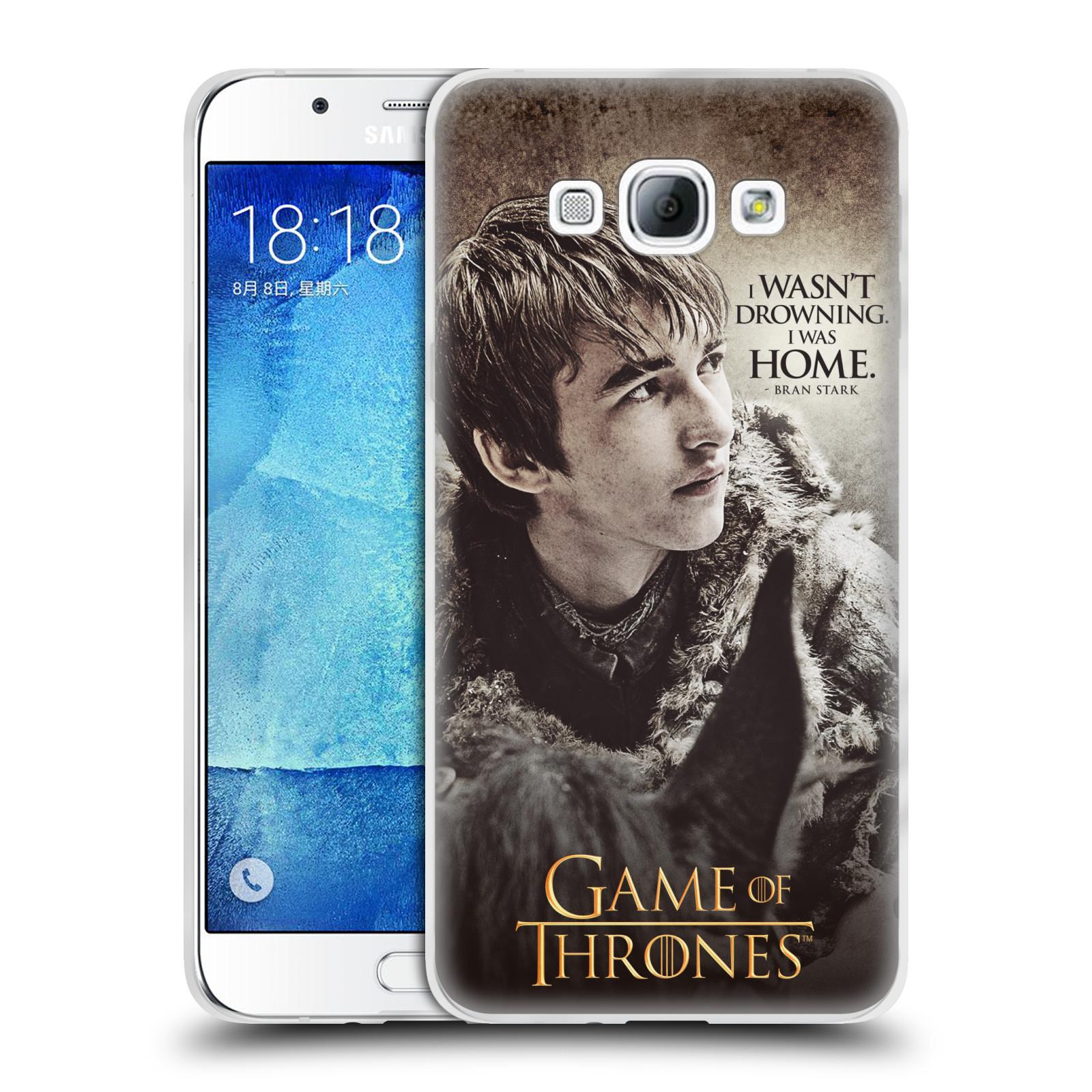 HEAD CASE silikonový obal na mobil Samsung Galaxy A8 2015 oficiální kryt Hra o trůny Bran Stark
