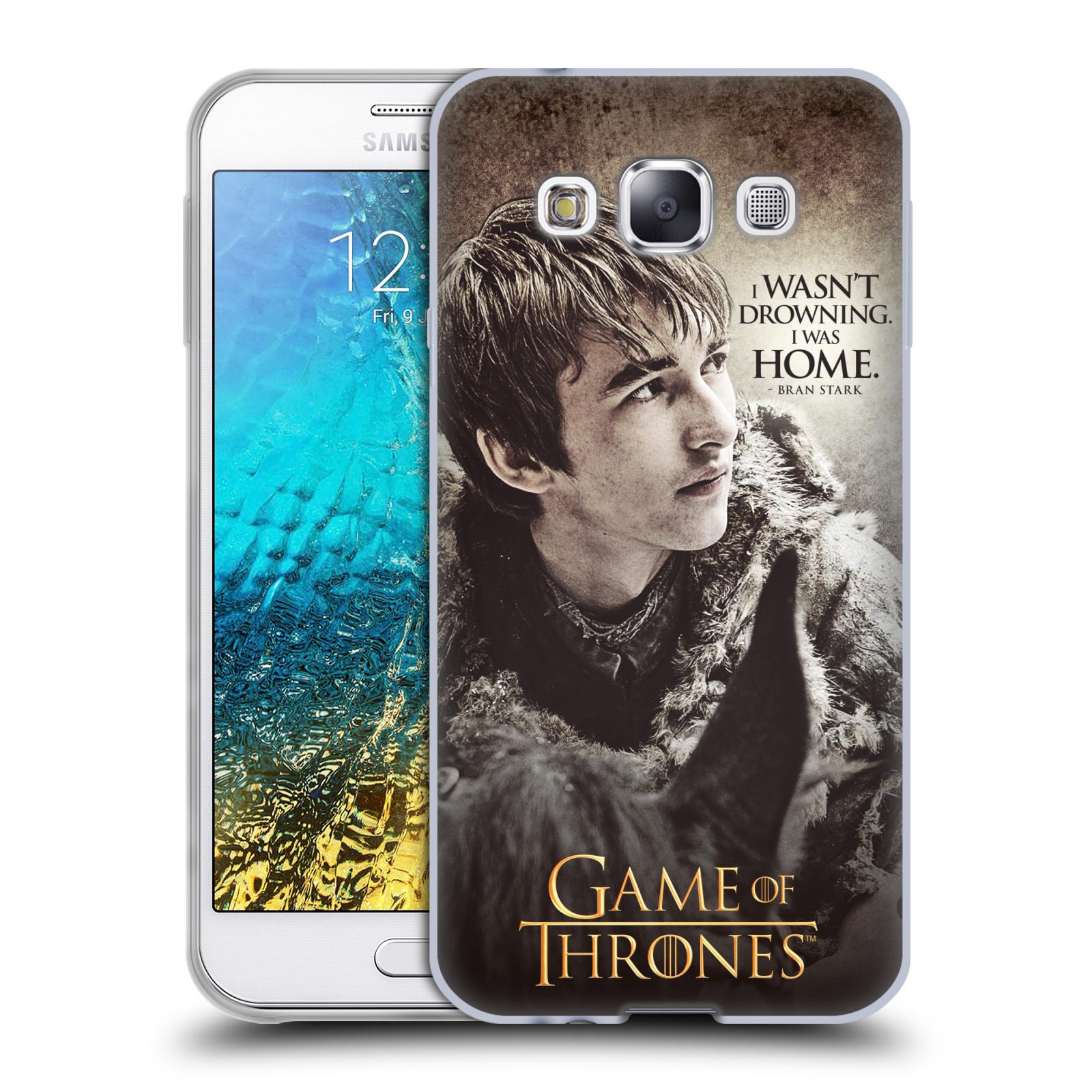 HEAD CASE silikonový obal na mobil Samsung Galaxy E5 oficiální kryt Hra o trůny Bran Stark