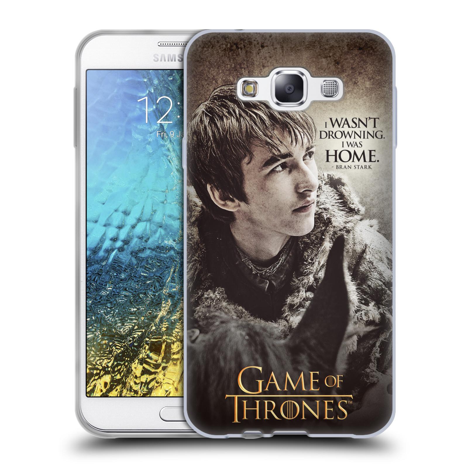 HEAD CASE silikonový obal na mobil Samsung Galaxy E7 oficiální kryt Hra o trůny Bran Stark