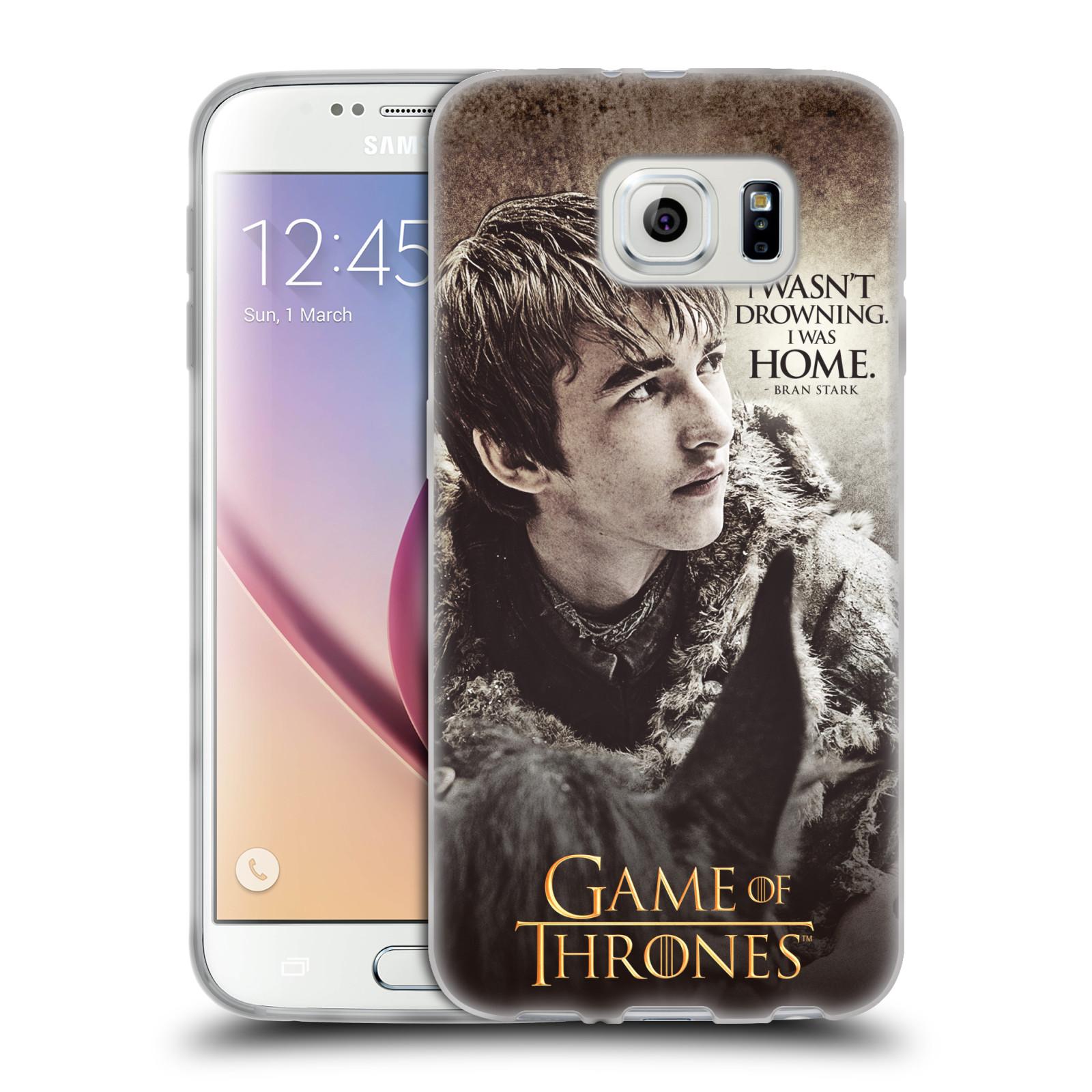 HEAD CASE silikonový obal na mobil Samsung Galaxy S6 oficiální kryt Hra o trůny Bran Stark