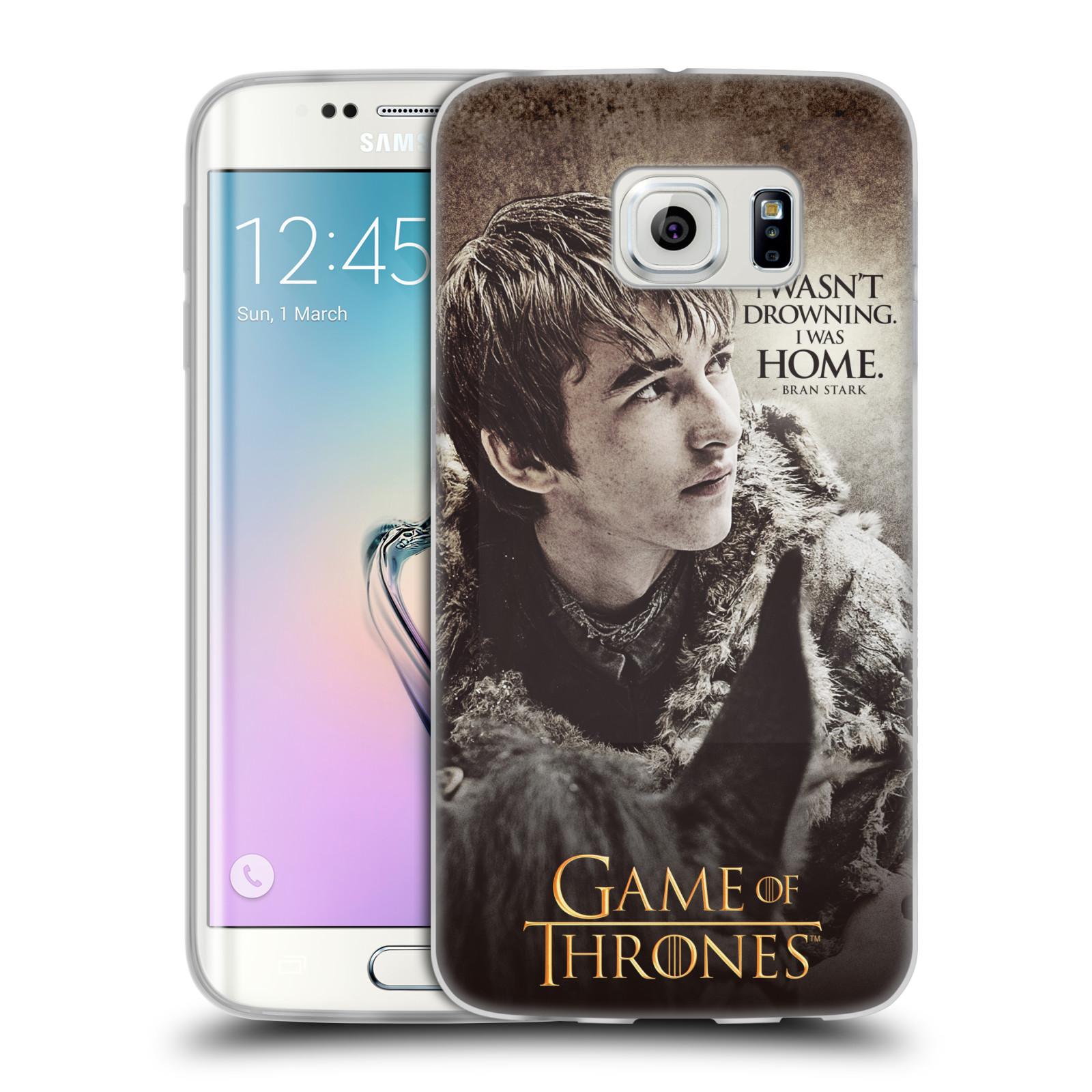 HEAD CASE silikonový obal na mobil Samsung Galaxy S6 EDGE oficiální kryt Hra o trůny Bran Stark