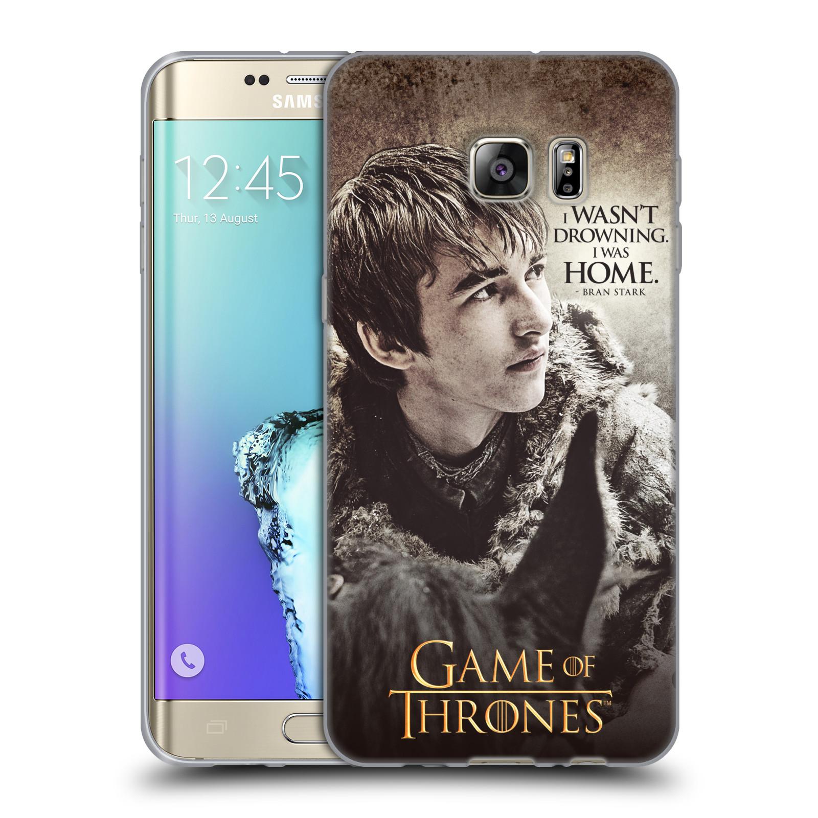 HEAD CASE silikonový obal na mobil Samsung Galaxy S6 EDGE PLUS oficiální kryt Hra o trůny Bran Stark