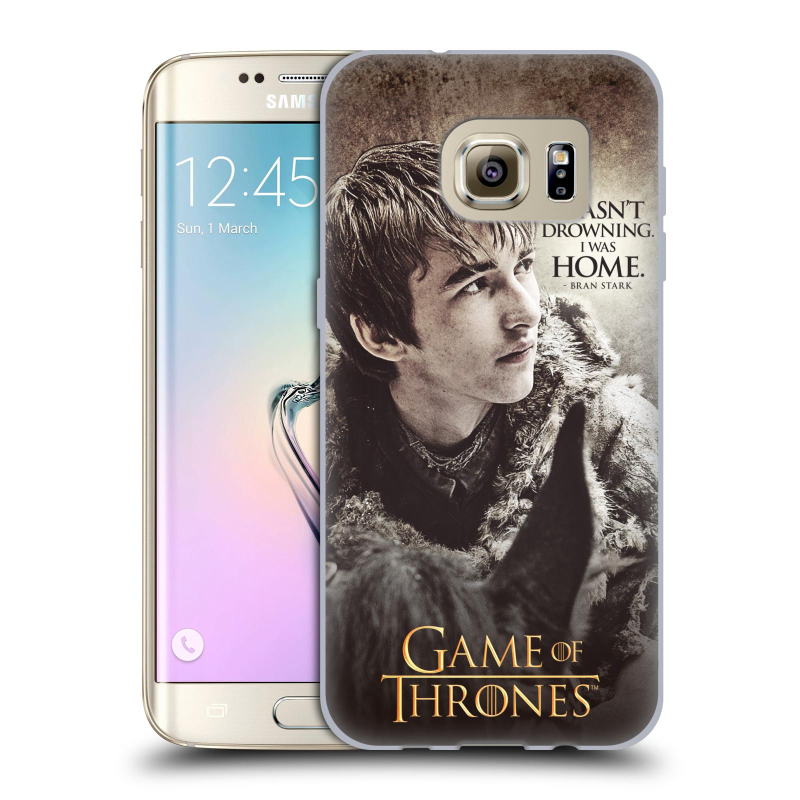 HEAD CASE silikonový obal na mobil Samsung Galaxy S7 EDGE oficiální kryt Hra o trůny Bran Stark