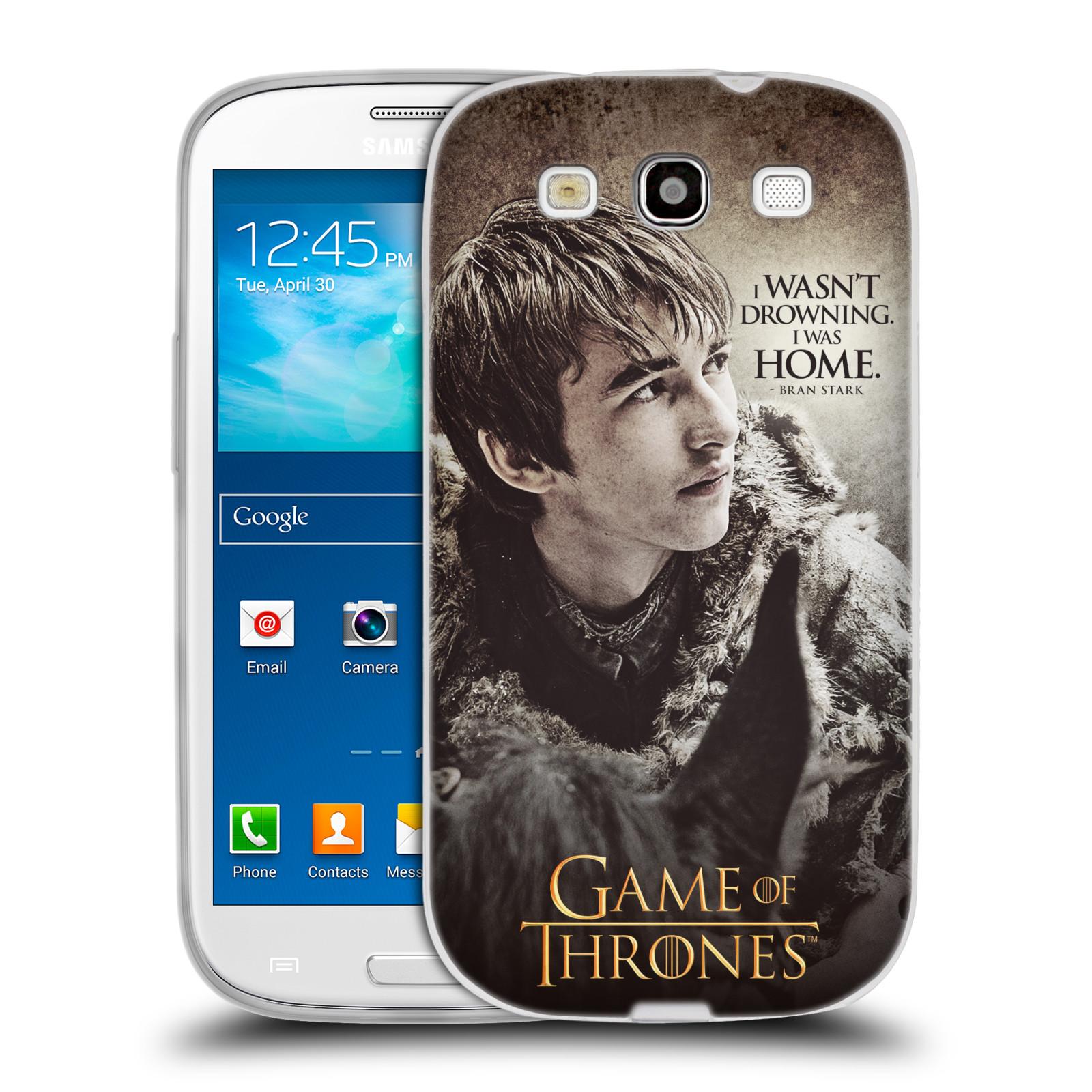 HEAD CASE silikonový obal na mobil Samsung Galaxy S3 oficiální kryt Hra o trůny Bran Stark