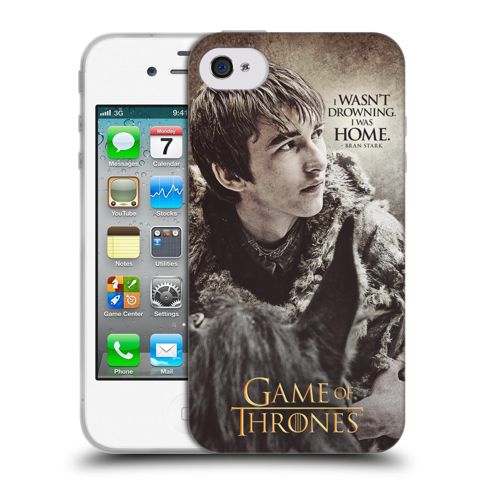 HEAD CASE silikonový obal na mobil Apple Iphone 4/4S oficiální kryt Hra o trůny Bran Stark