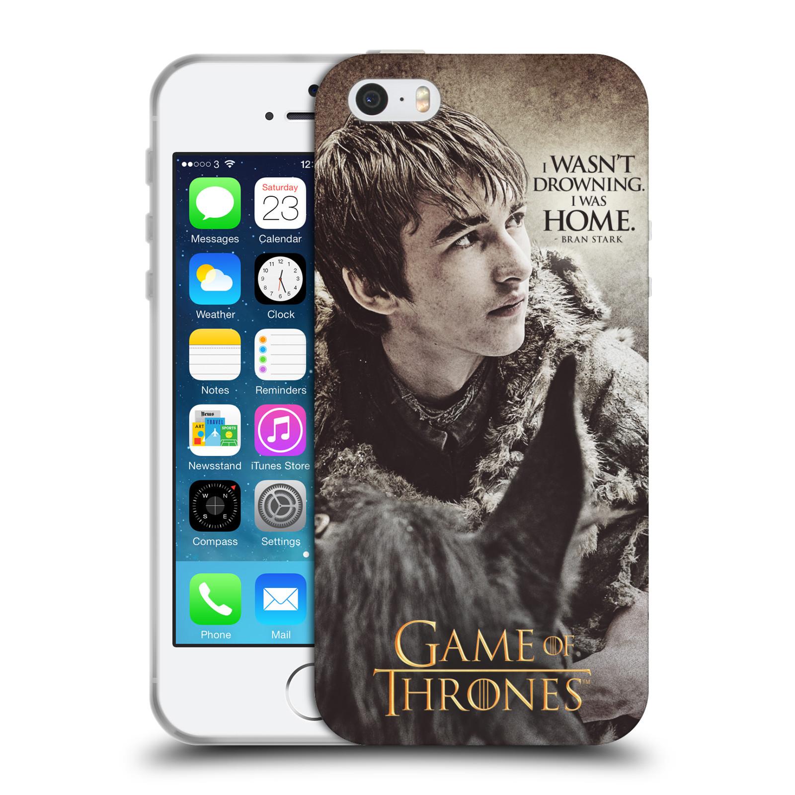 HEAD CASE silikonový obal na mobil Apple Iphone 5/5S oficiální kryt Hra o trůny Bran Stark