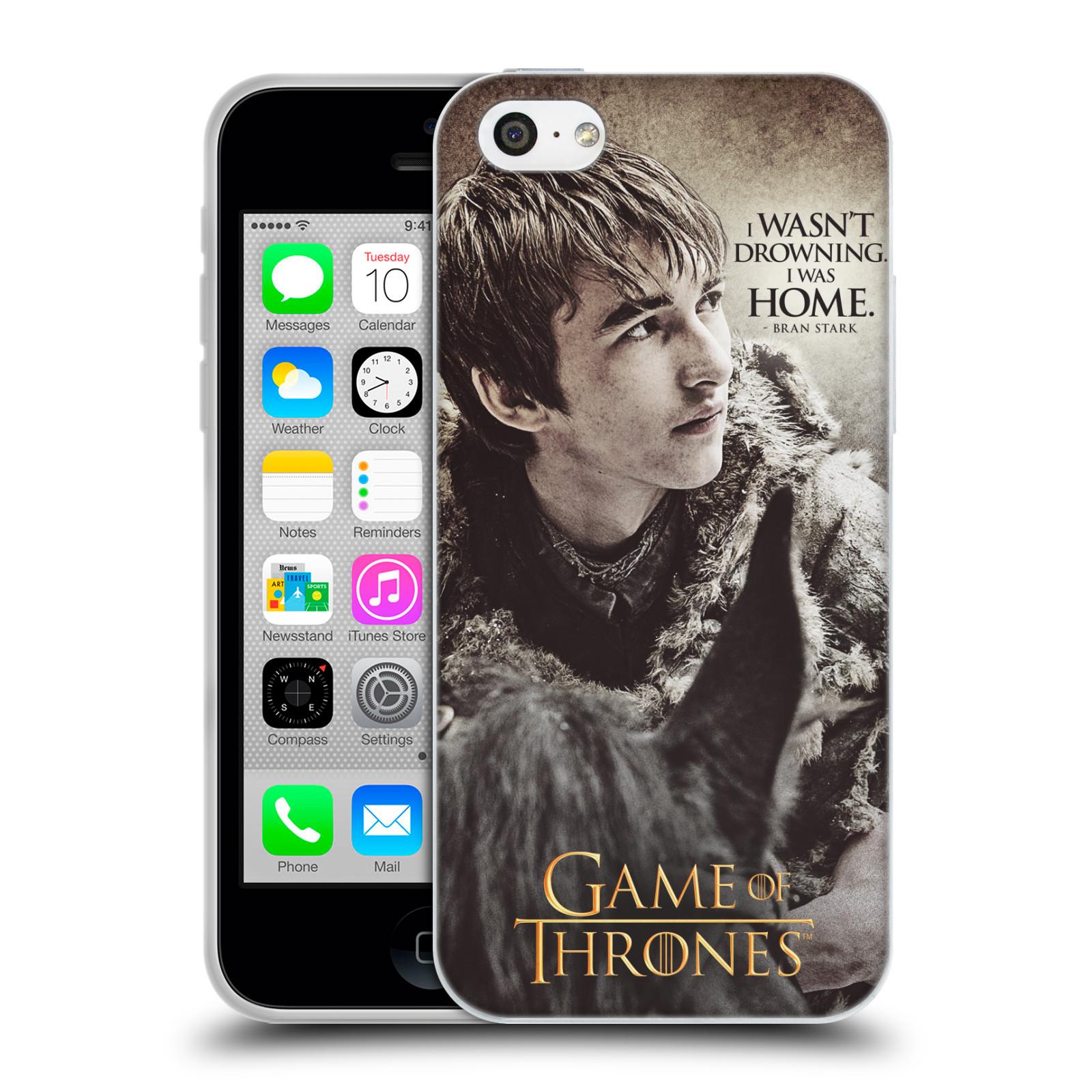HEAD CASE silikonový obal na mobil Apple Iphone 5C oficiální kryt Hra o trůny Bran Stark