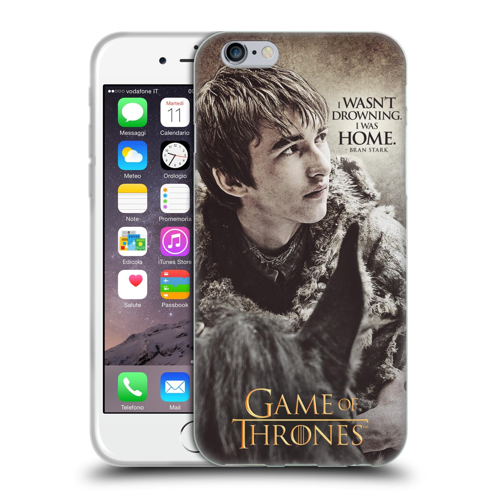 HEAD CASE silikonový obal na mobil Apple Iphone 6/6S oficiální kryt Hra o trůny Bran Stark